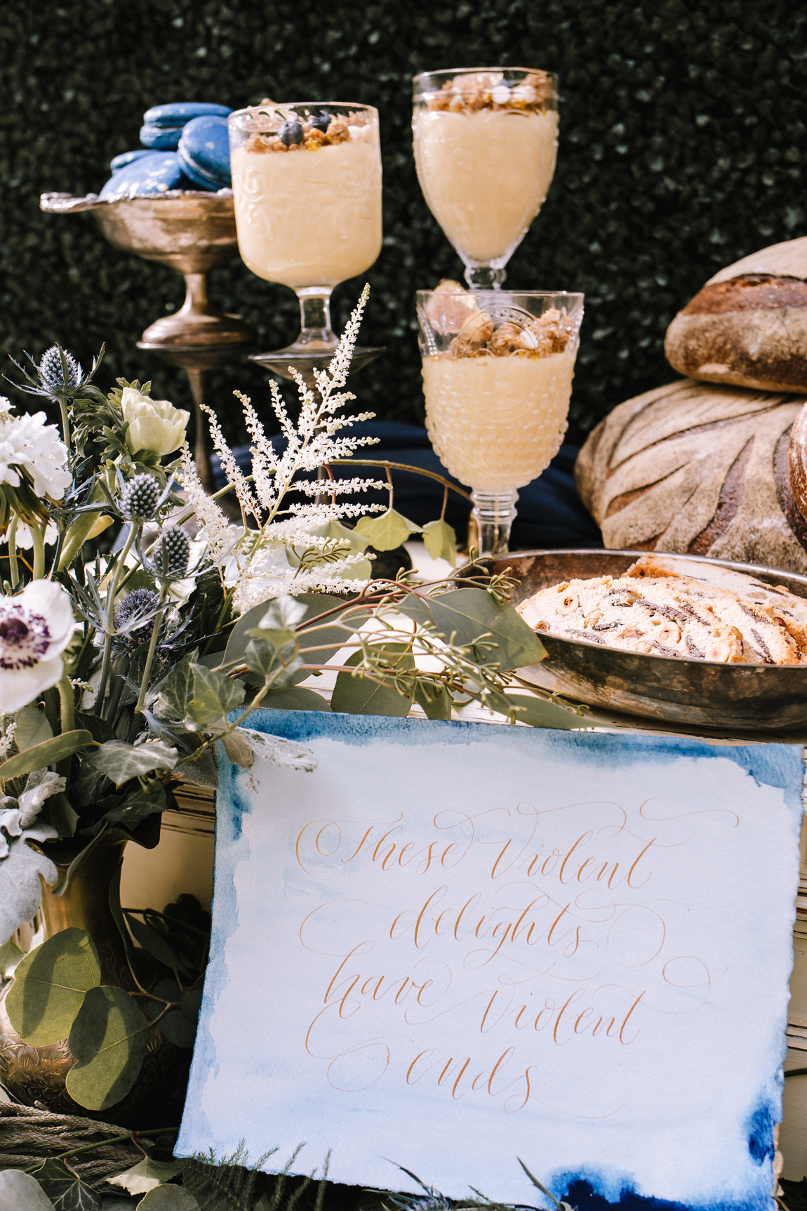 Romeo and Juliet inspired wedding decor