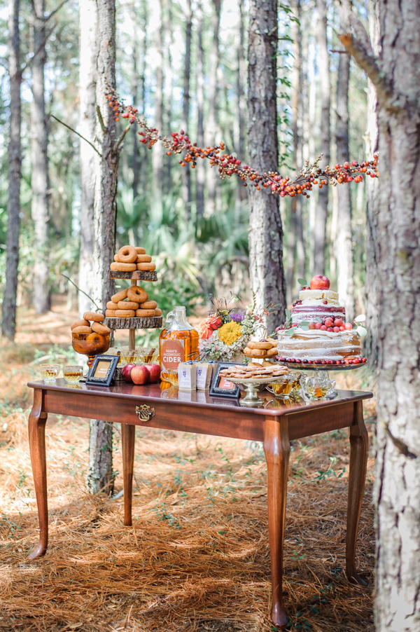 Fantastic Mr. Fox inspired reception dessert table