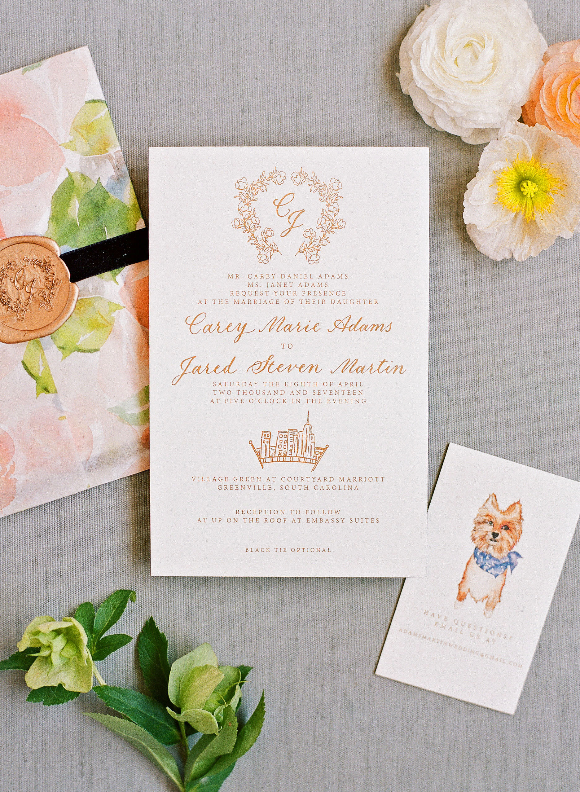 carey jared wedding invite formal