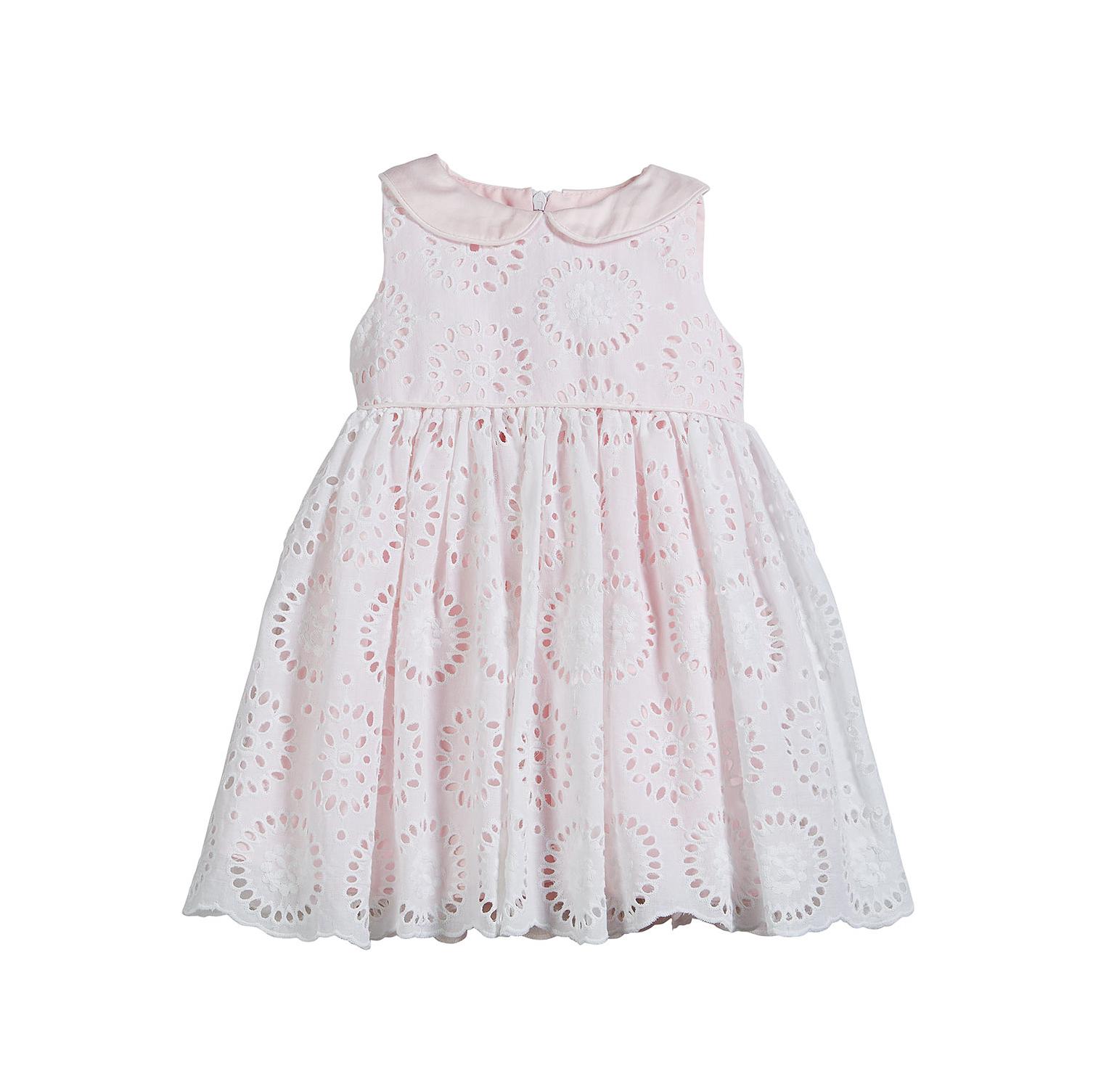 summer flower girl outfit eyelet pink dress