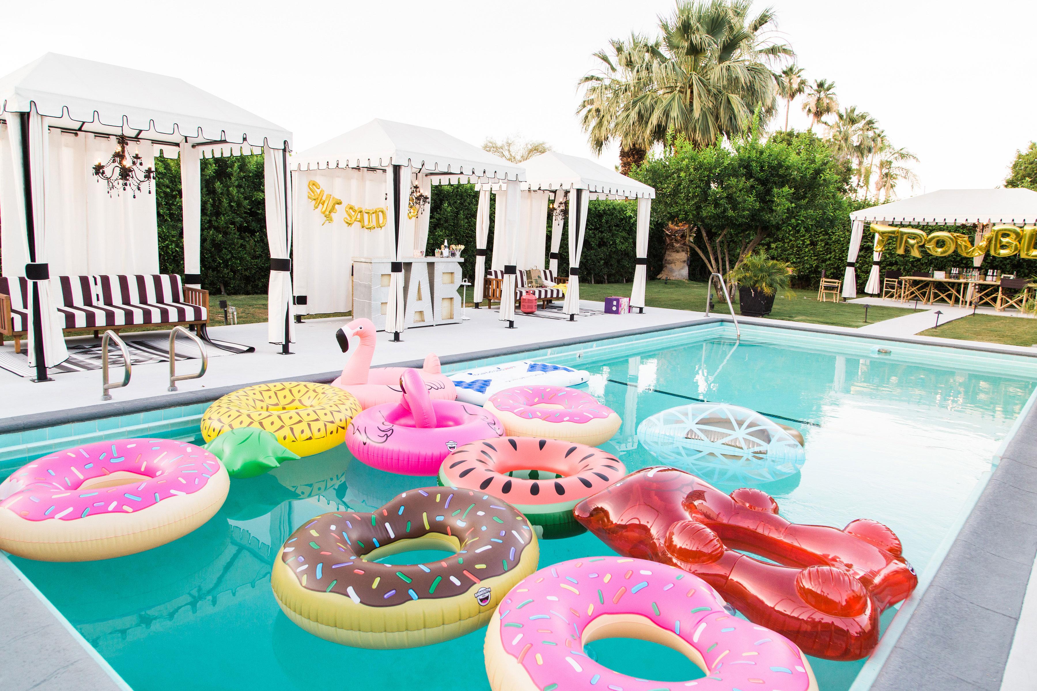 bachelorette party bar pool area