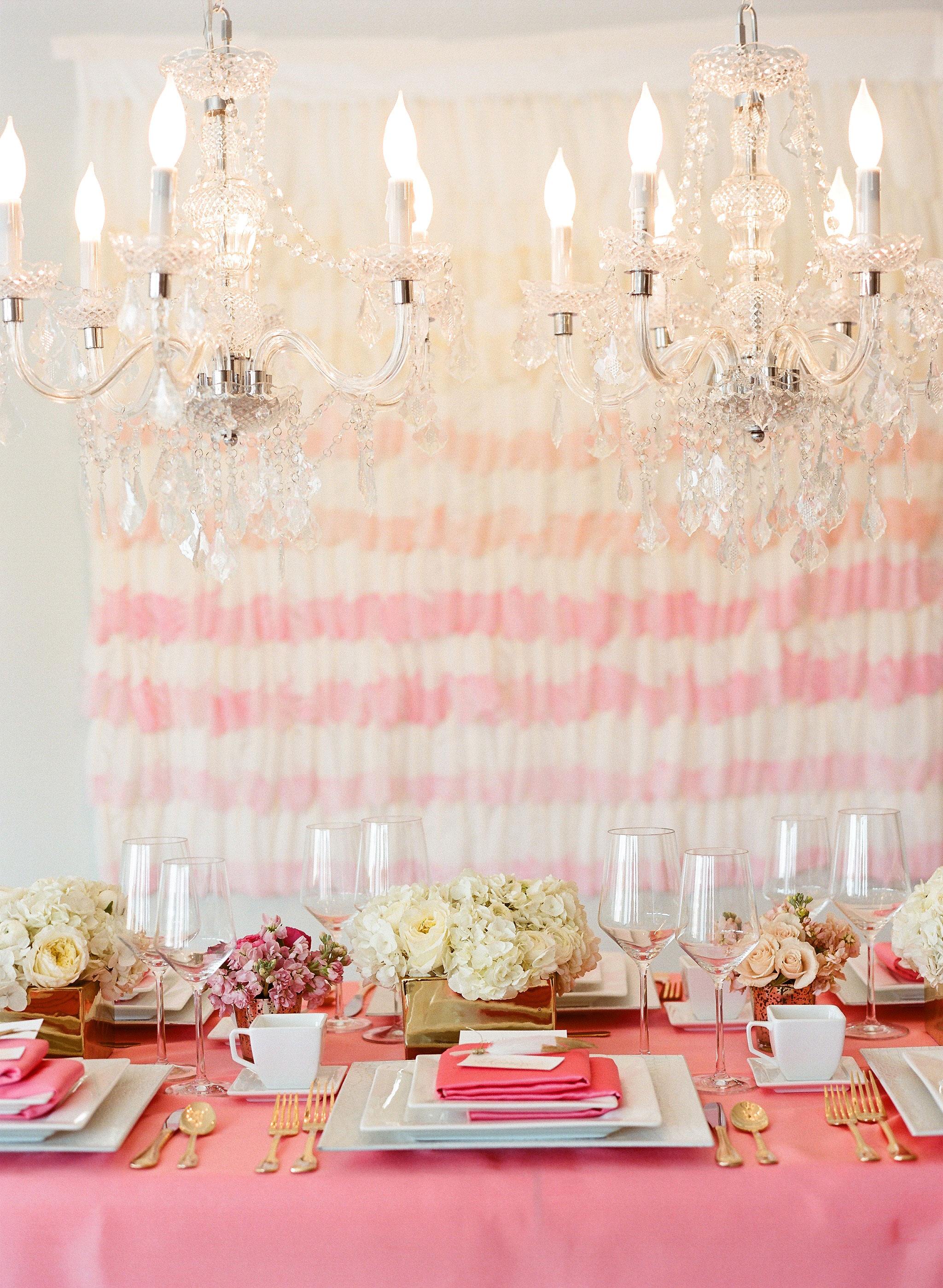 tablescape pink placesettings
