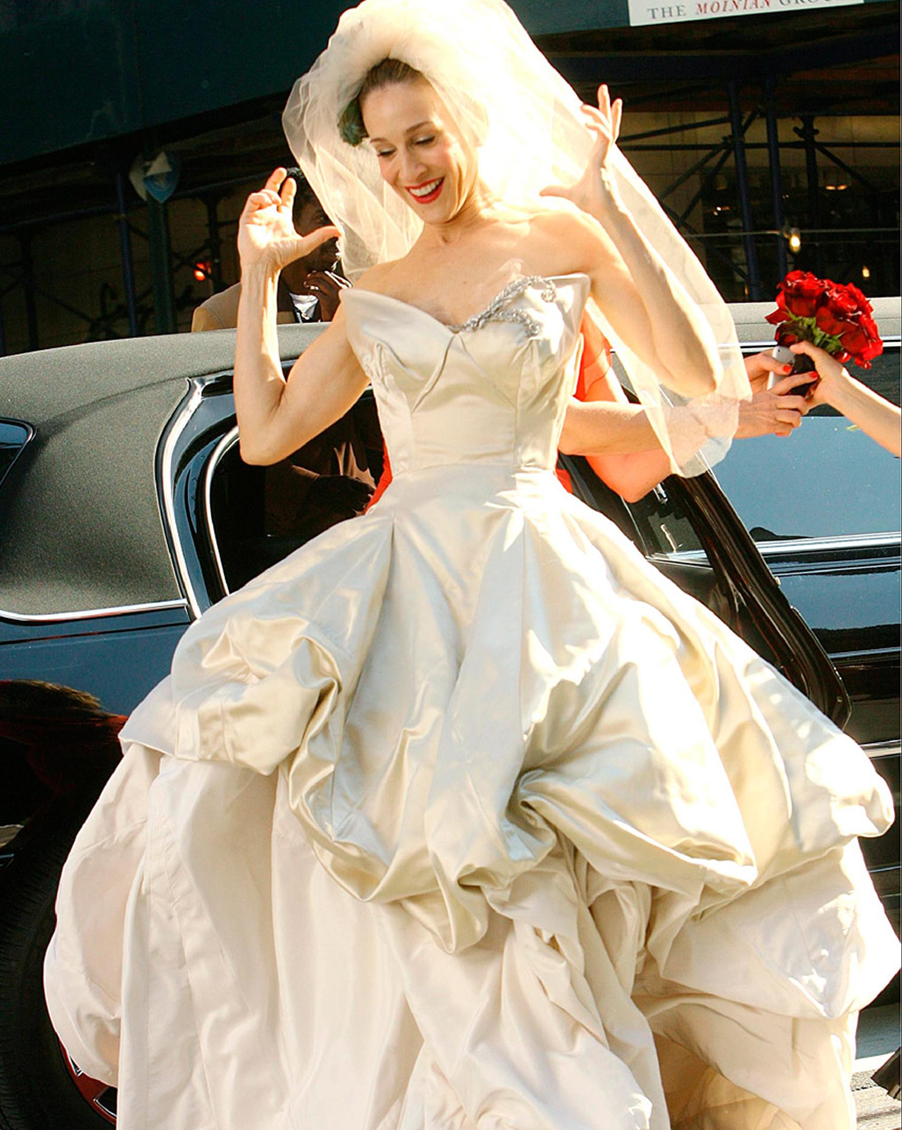 See All The Wedding Dresses That Didn T Make It Into The Sex And