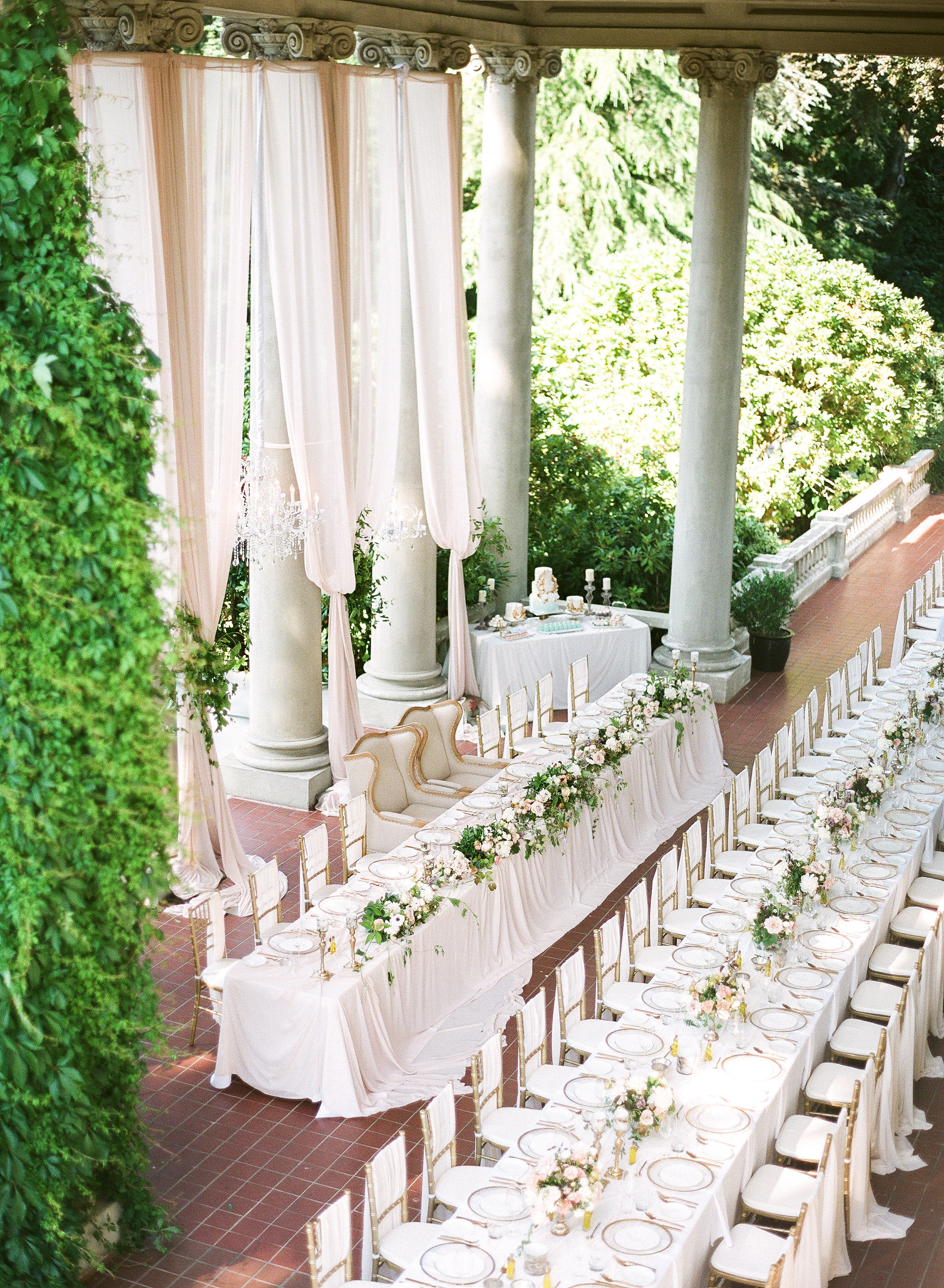 gloria zee wedding reception layout aerial view
