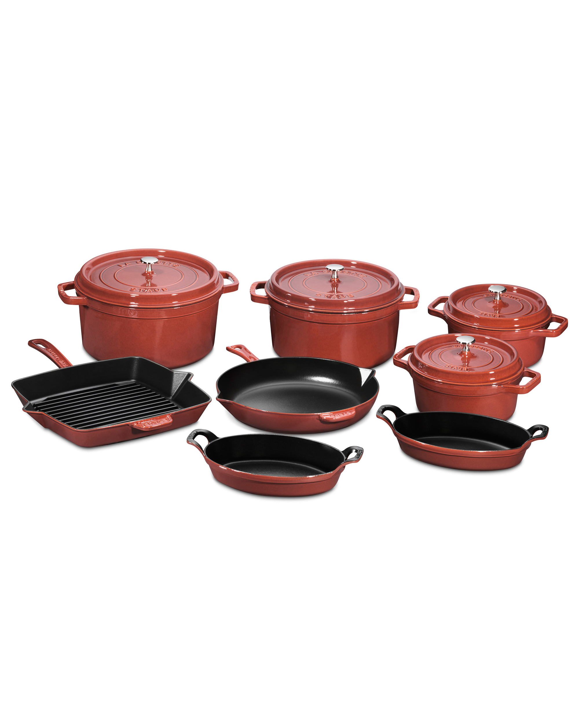 Staub Cast-Iron 12 Piece Set