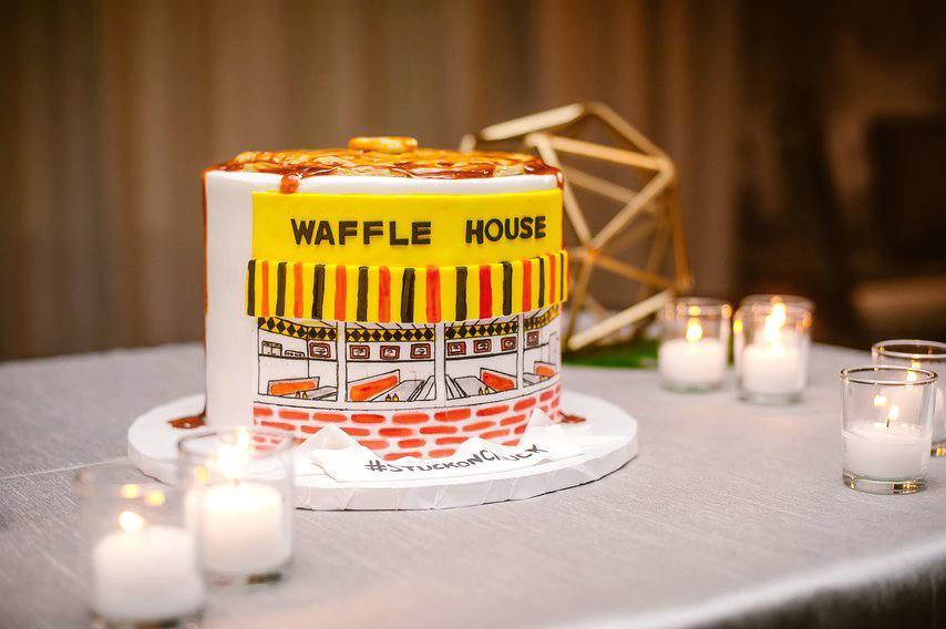 waffle house grooms cake