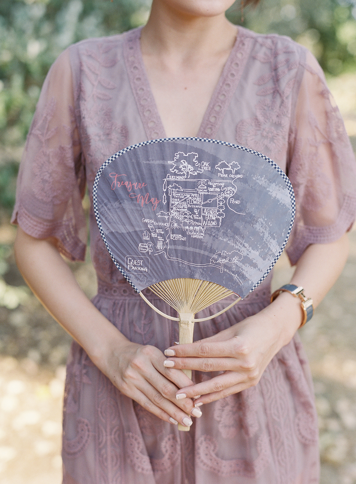 cloth ceremony program fan