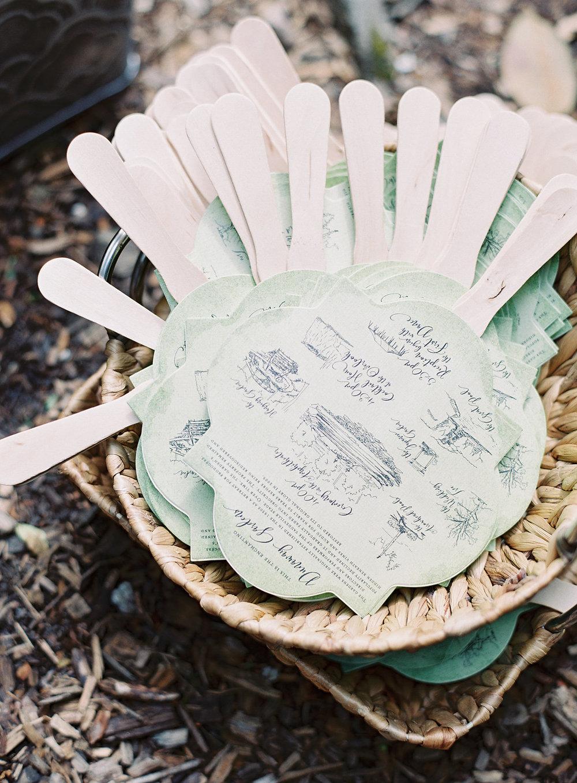 vintage inspired green ceremony programs