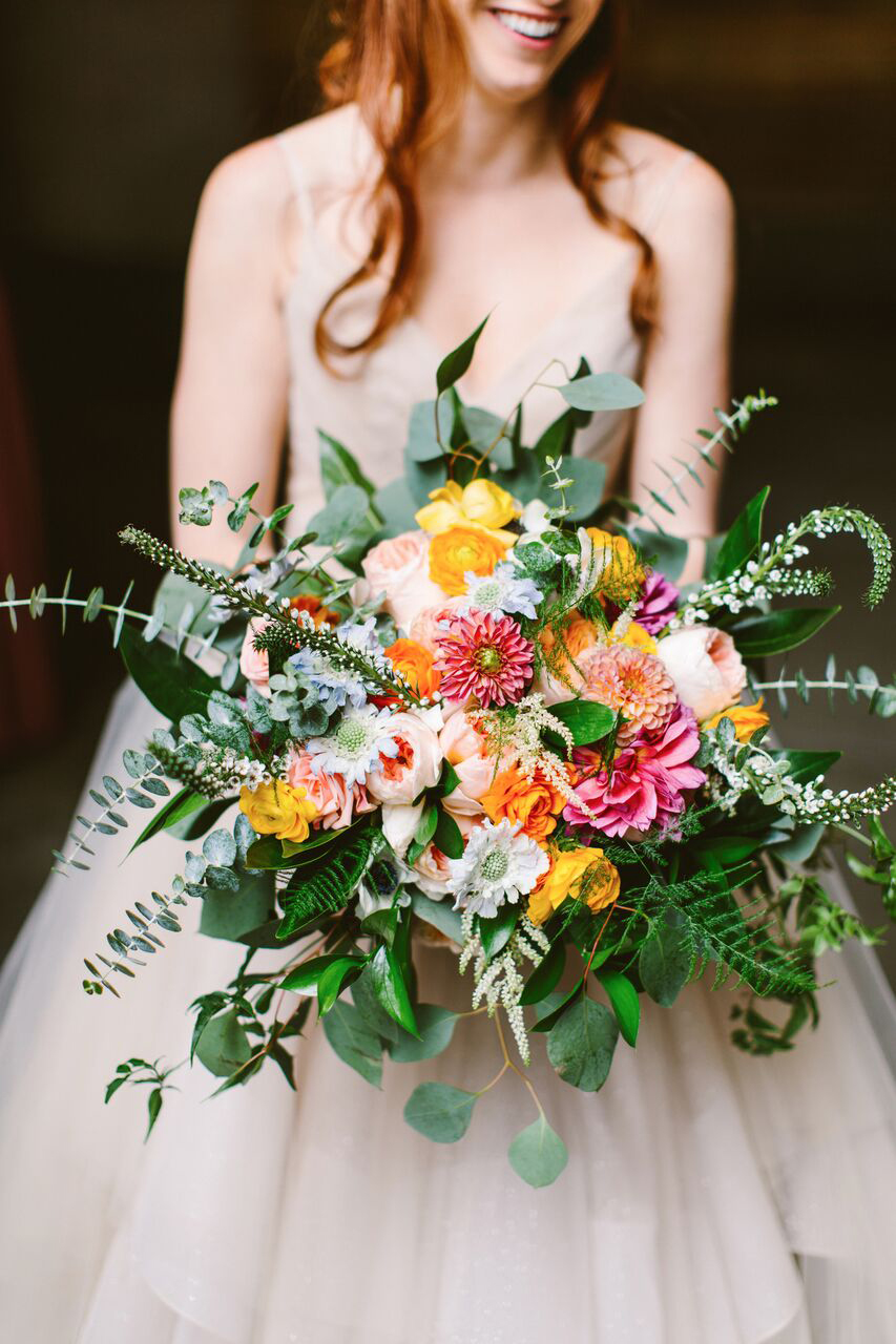 summer wedding bouquets redfield photography