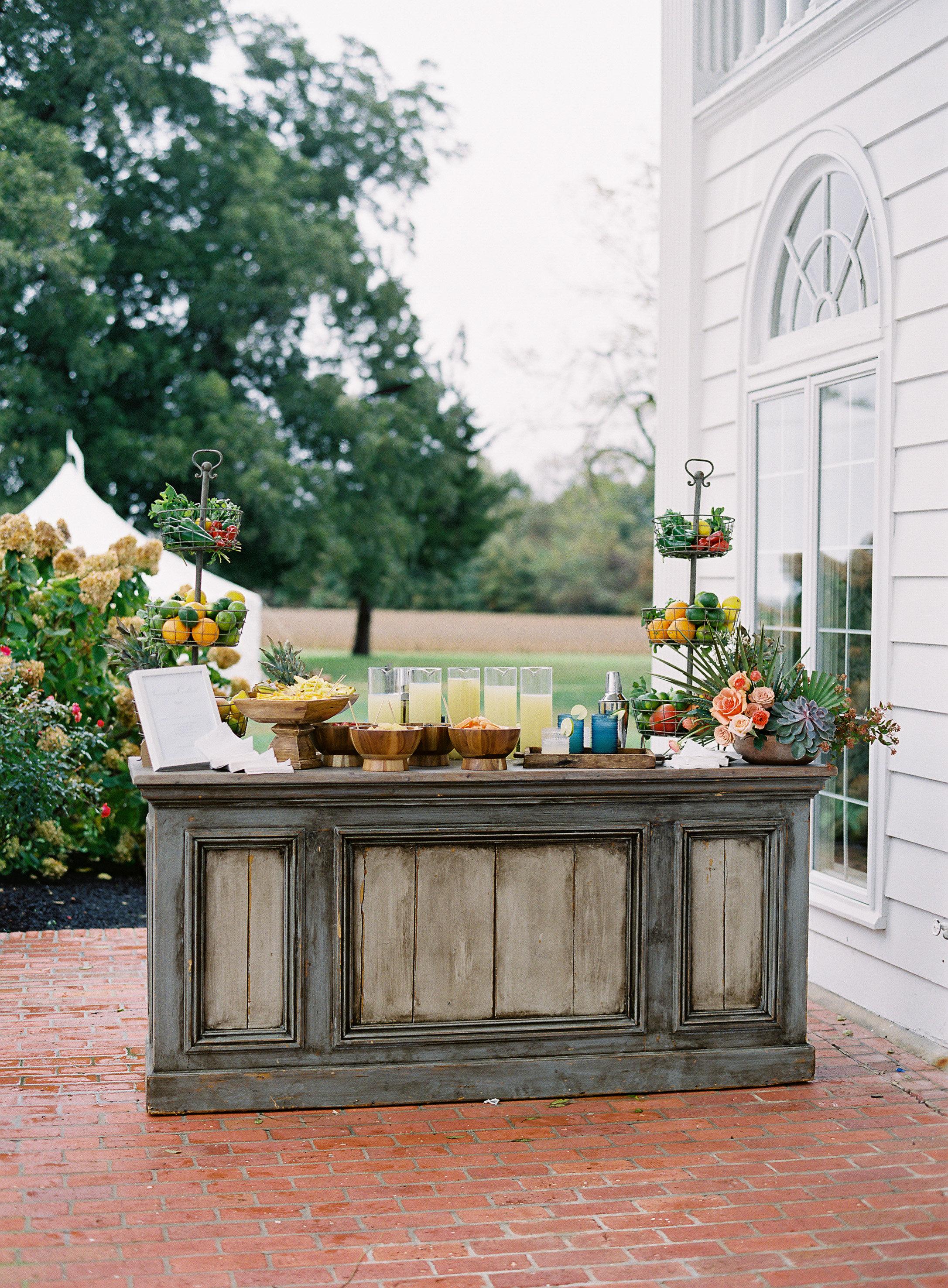 lauren alex wedding bar outdoors