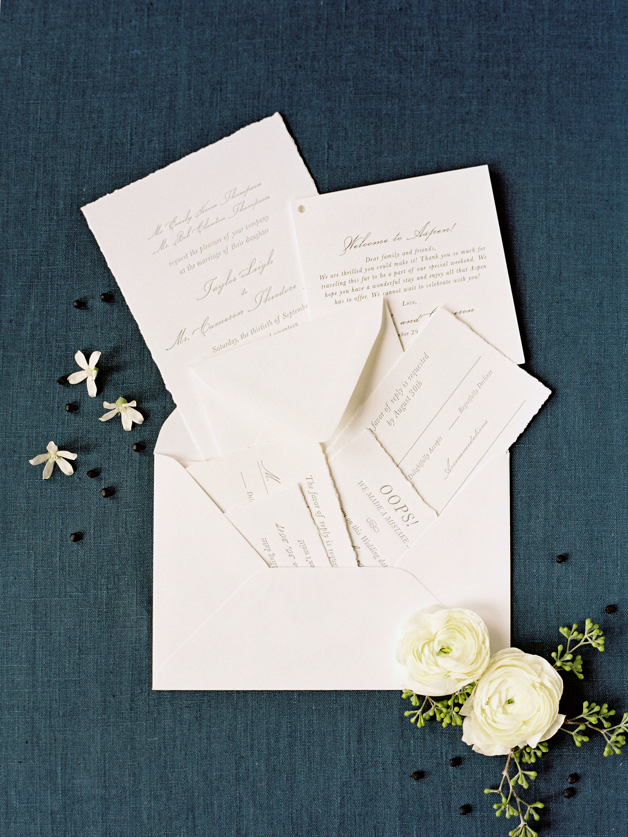 taylor cameron wedding invitation suite