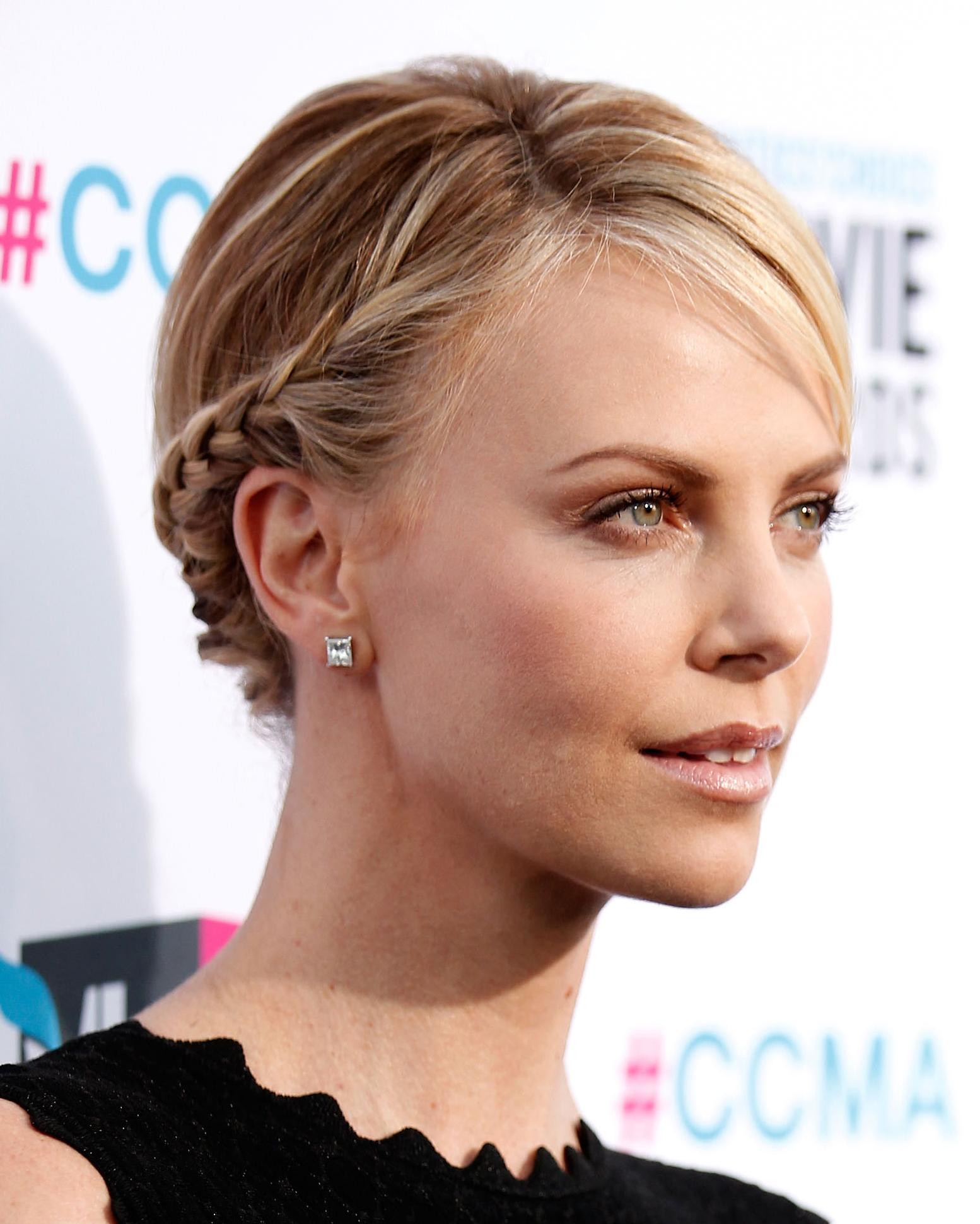 Charlize Theron's Braided Bun