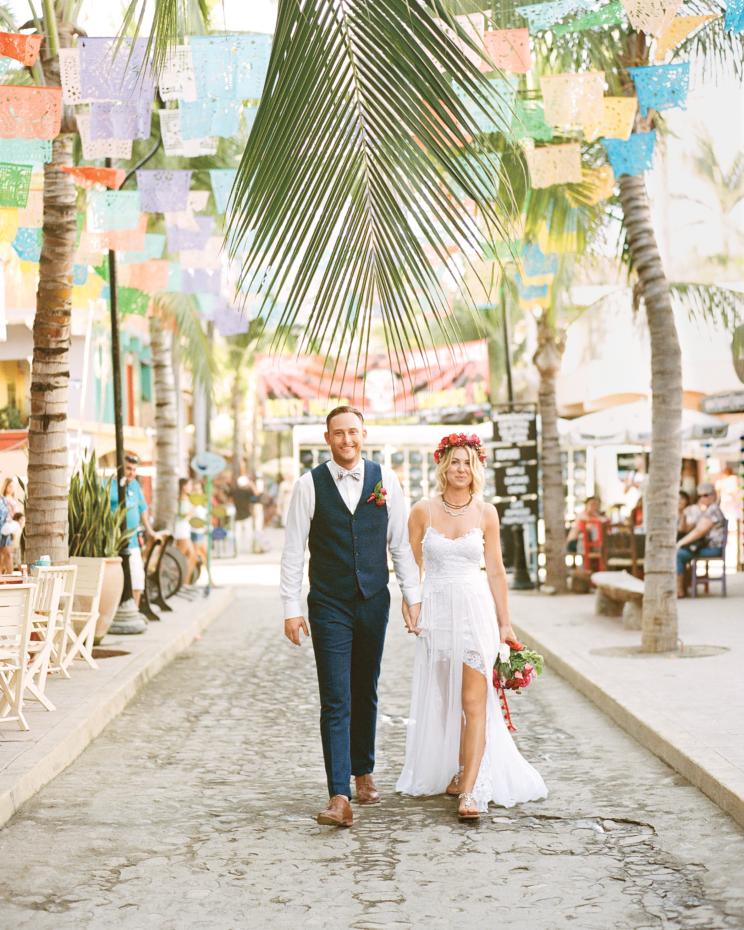 This Mexico Wedding Was Bursting With Bold Colors Martha Stewart