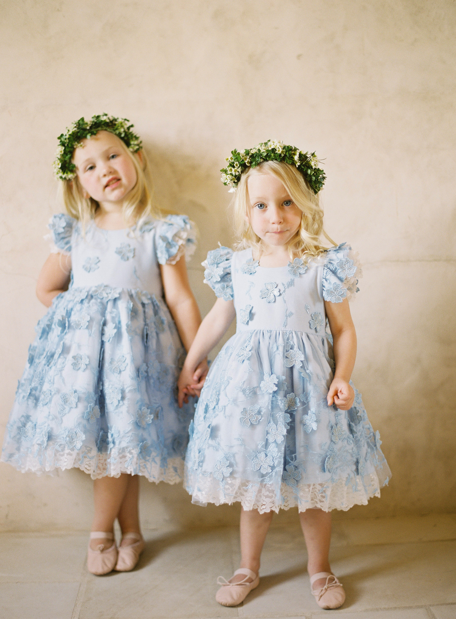 something blue flower girls blue dresses
