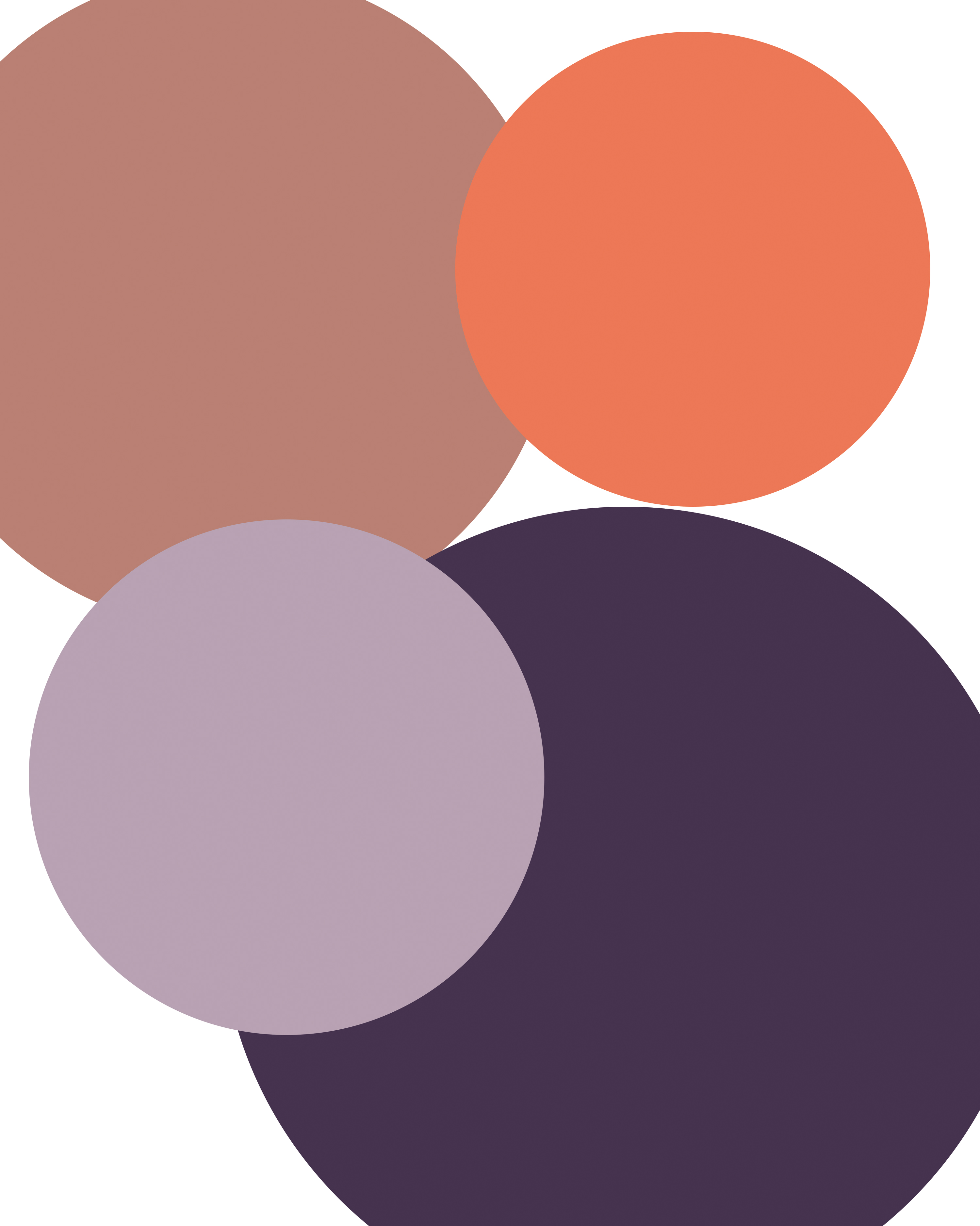 Taupe, Lilac, Deep Plum, and Peach
