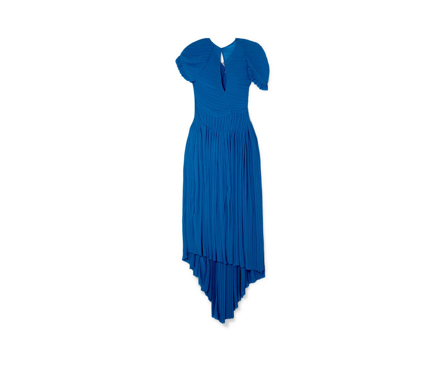 preen by thornton bregazzi blue asymmetric dress