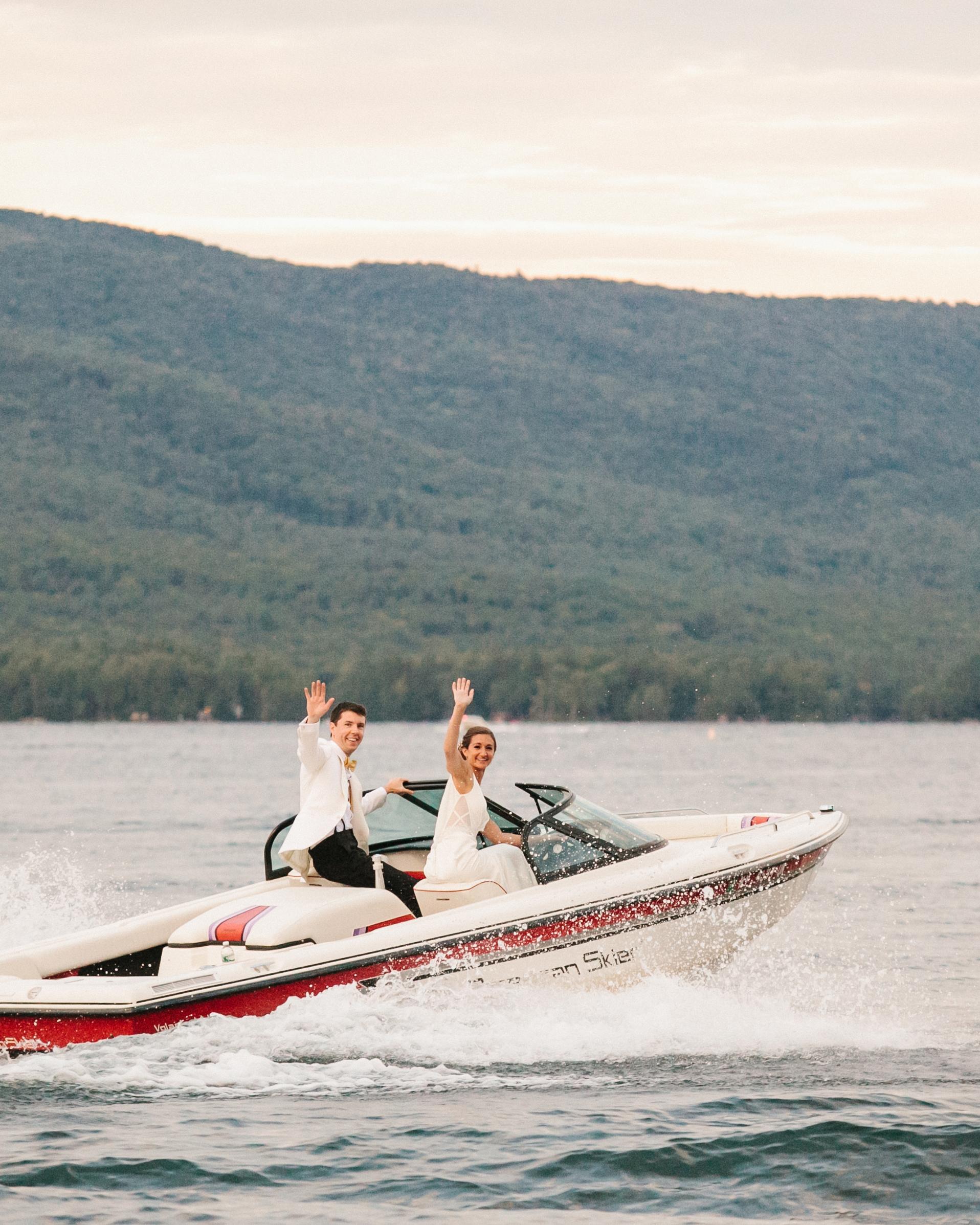 summer reception ideas boat lake
