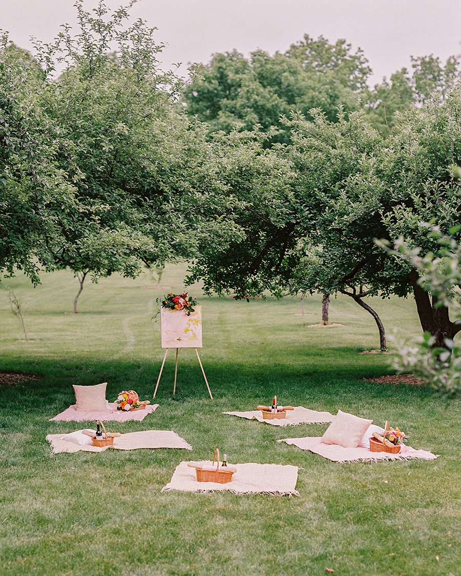 summer reception ideas picnic set up