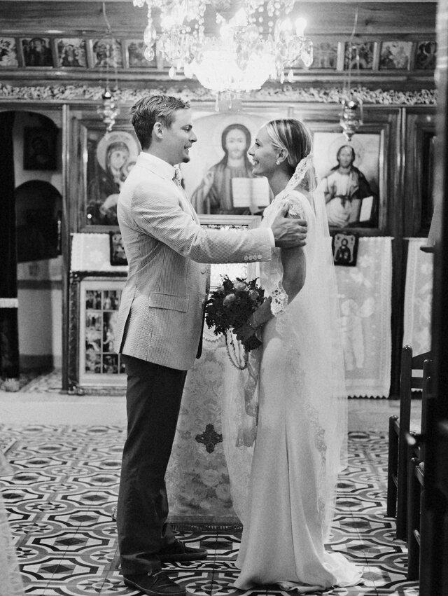 Ana and Alden's Chic Greek Wedding | Martha Stewart Weddings