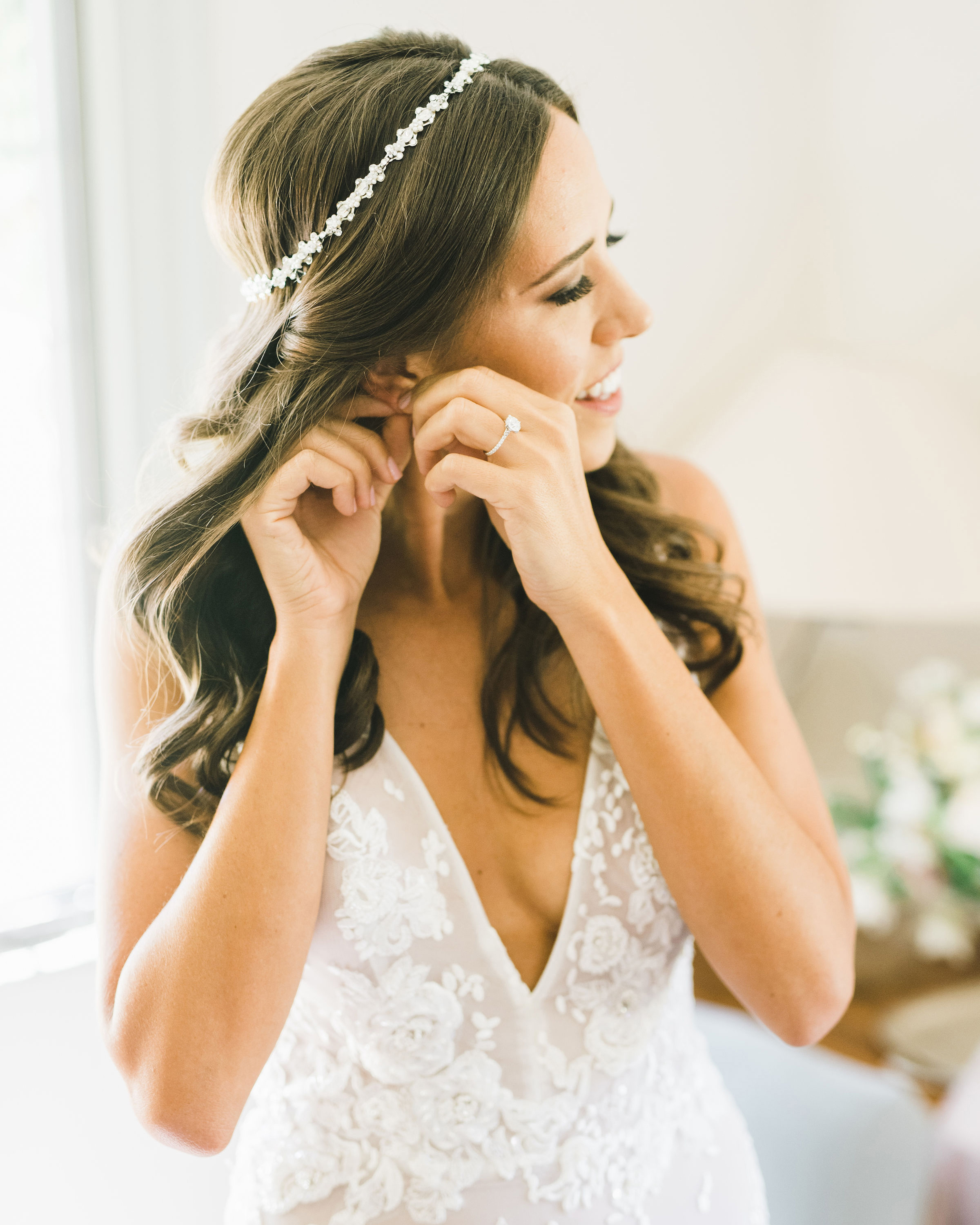 Half Up Half Down Wedding Hairstyles We Love Martha Stewart