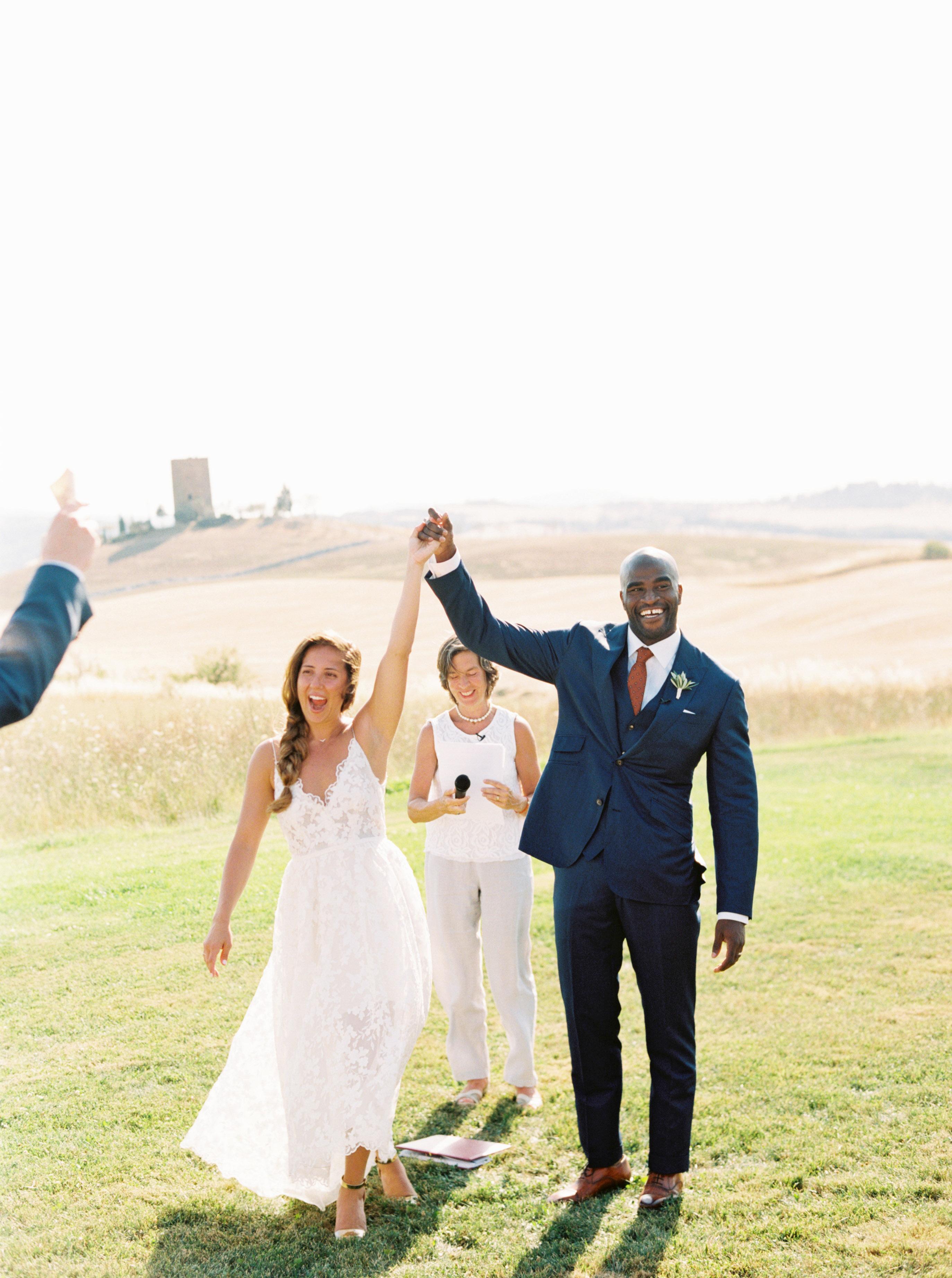 leila joel wedding ceremony just married