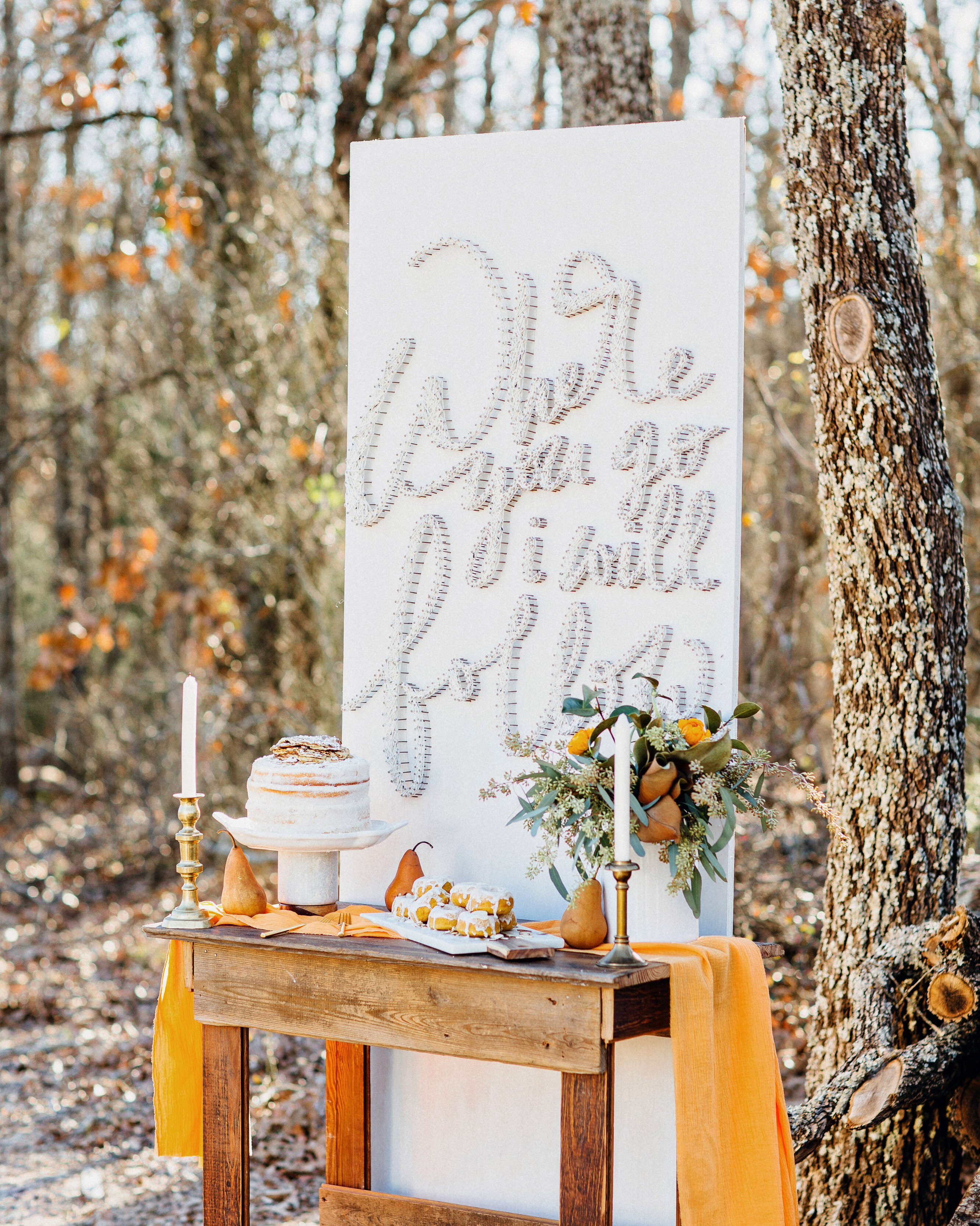 quotes at weddings dessert table backdrop