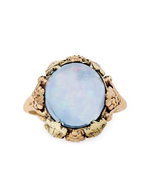 blue gold ring