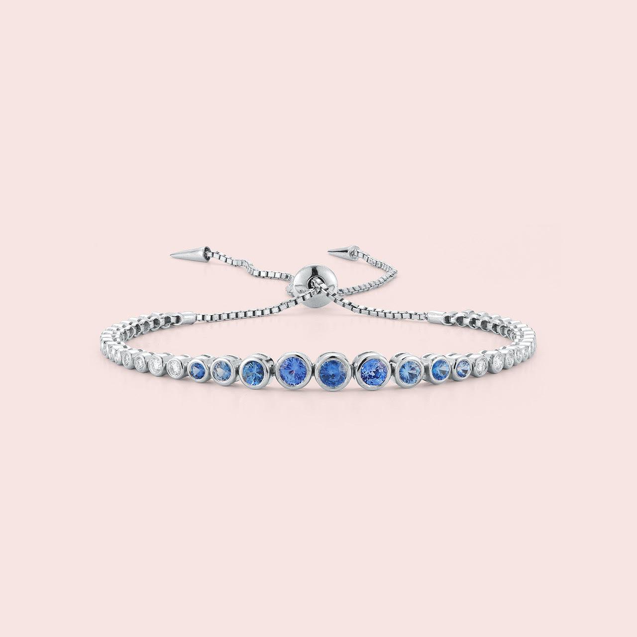 blue silver bracelet