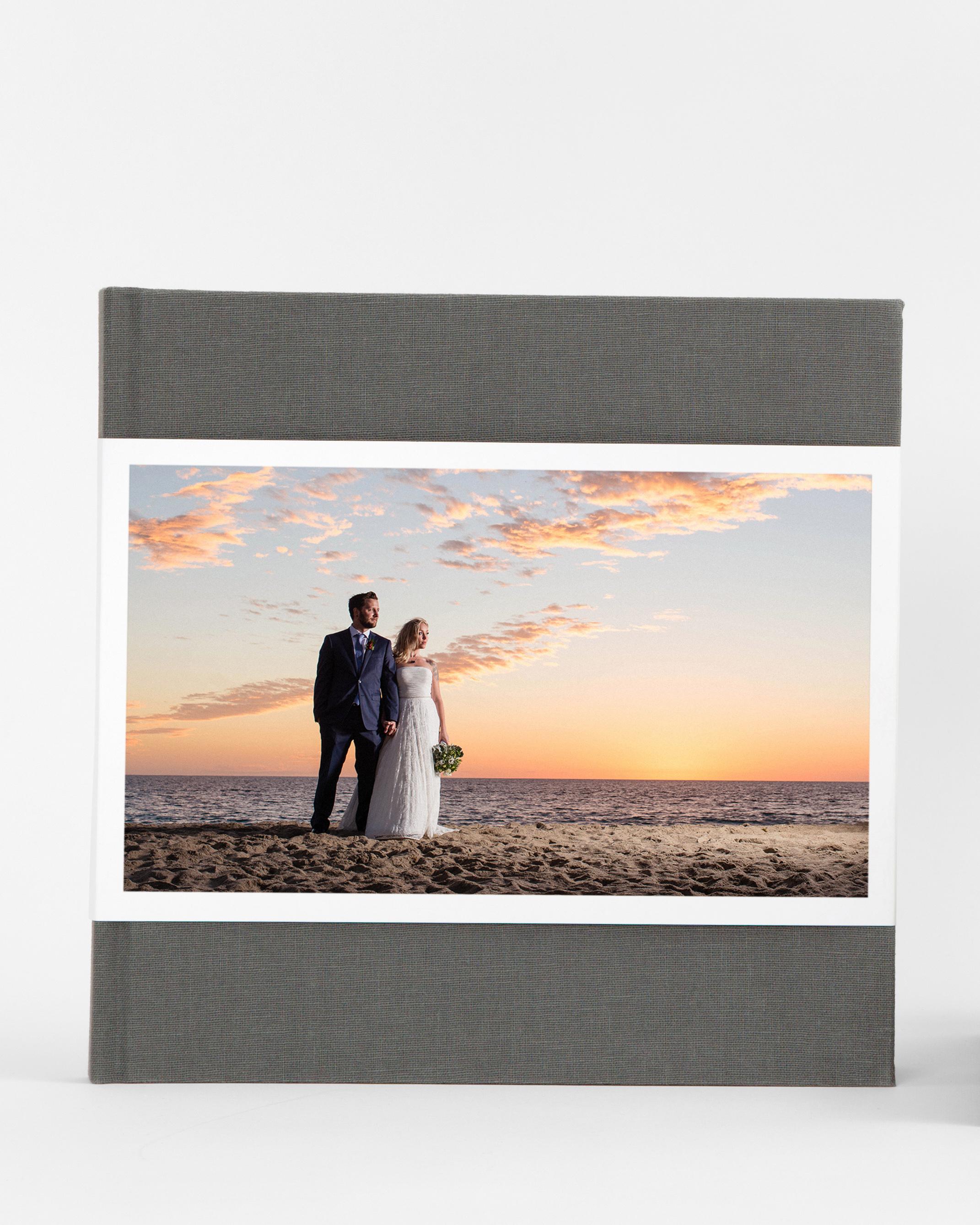 wedding photo album coffee table book with dust jacket
