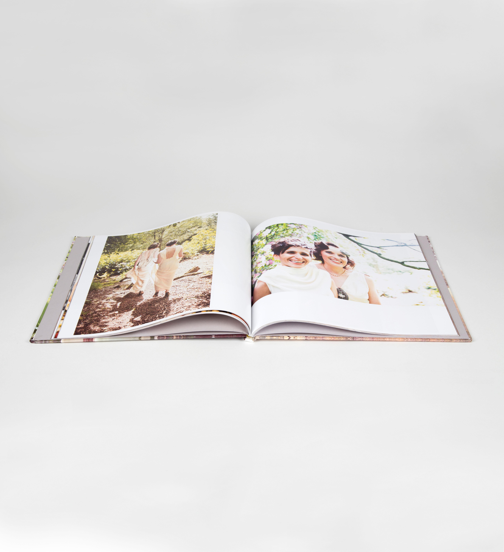 wedding photo album book with photo wrap cover
