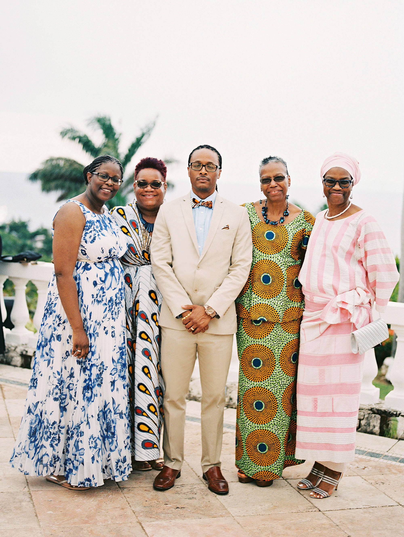 porsha terry wedding jamaica guests african dress