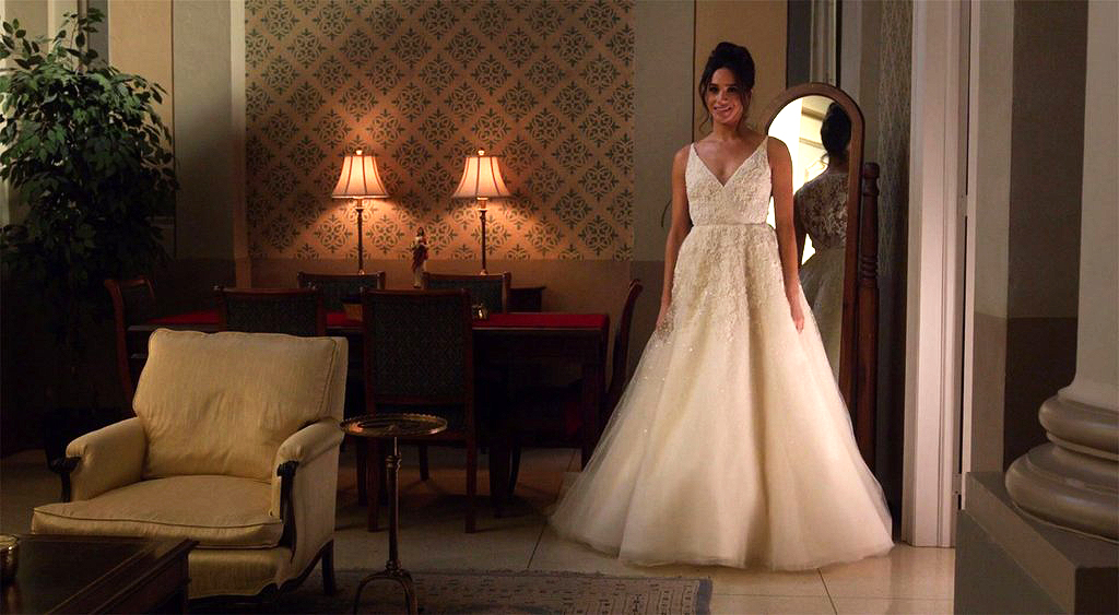 tv wedding dresses rachel zane suits