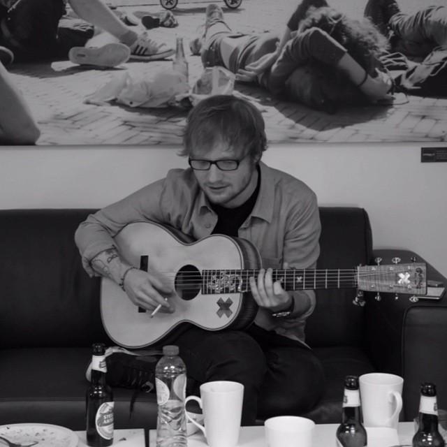 Ed Sheeran Playing the Guitar