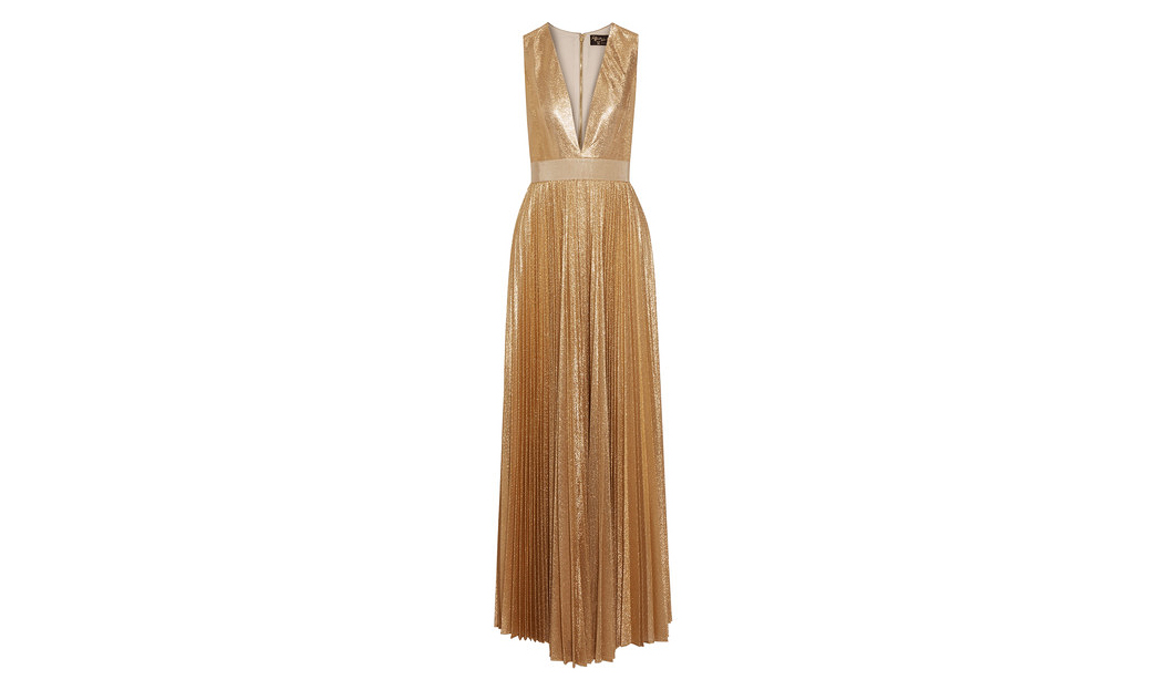 engagement party dress alice olivia gold metallic