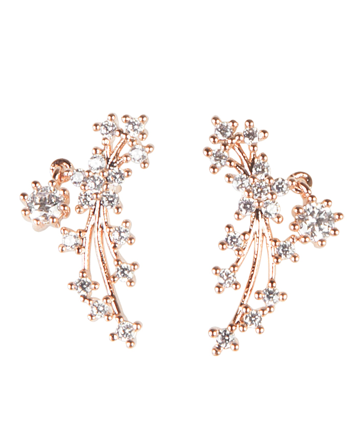 Faux-Diamond Earrings