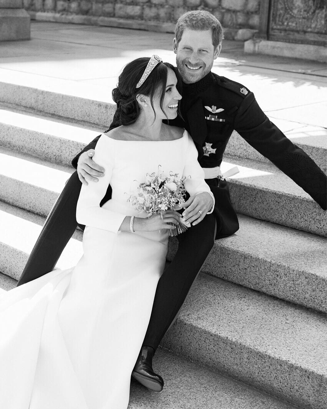 Prince Harry and Meghan Markle Official Wedding Portrait
