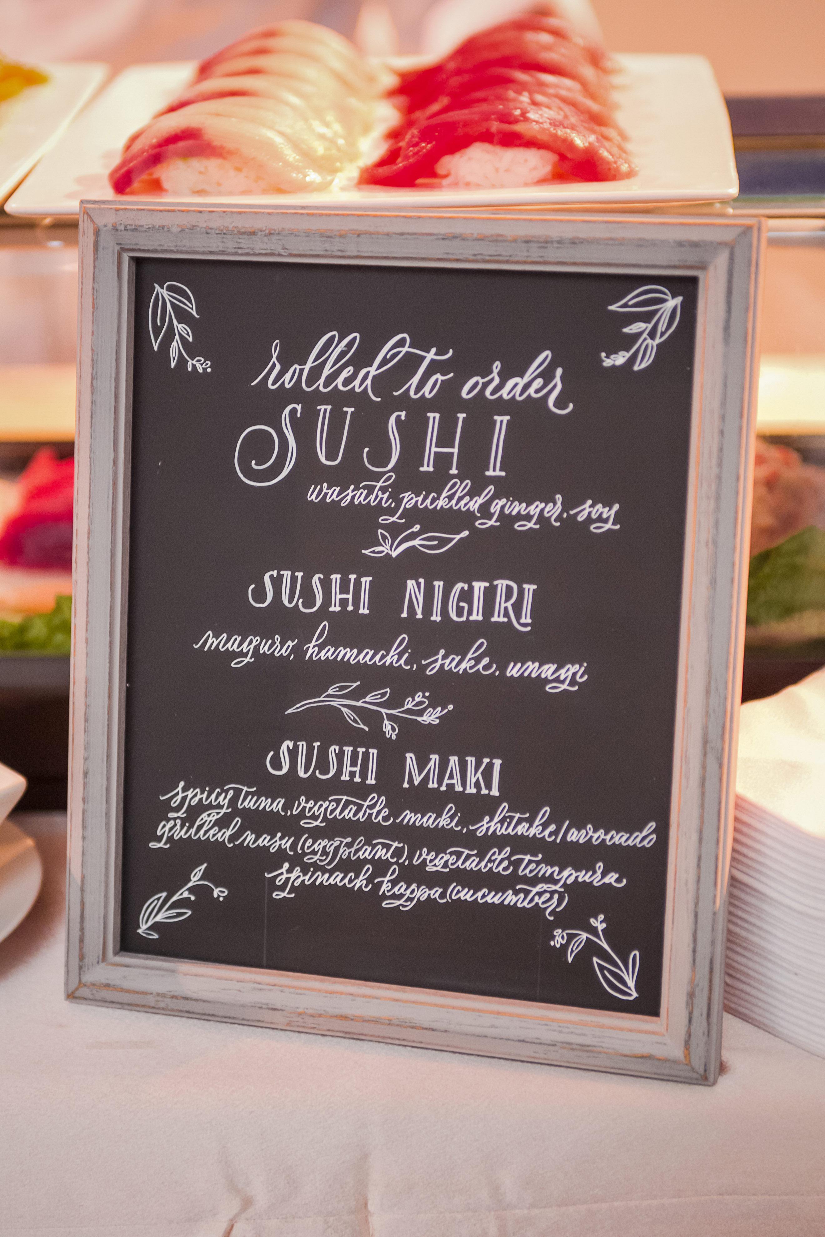 wedding food bars augie chang sushi