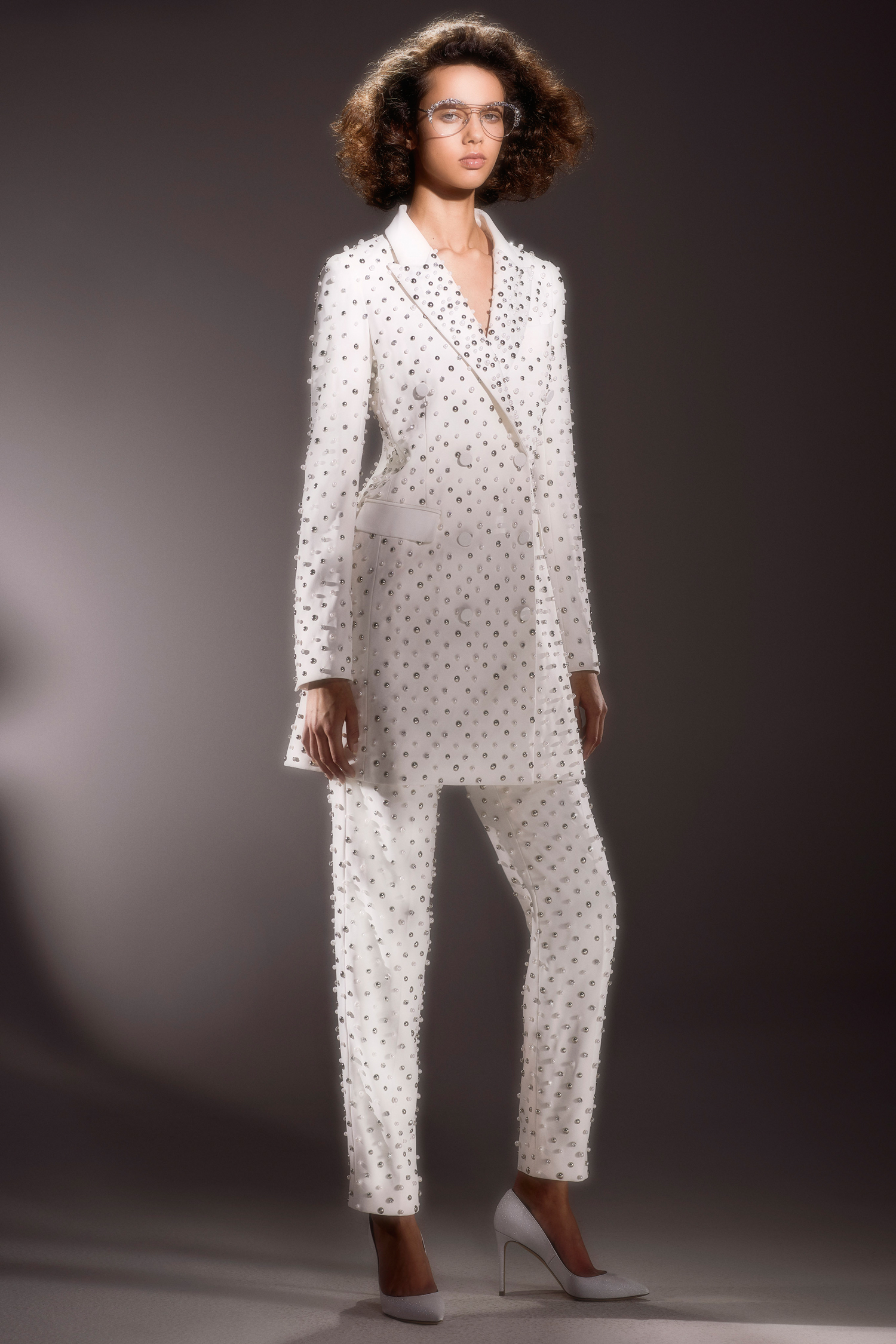 viktor and rolf beaded pants and blazer wedding dress spring 2020