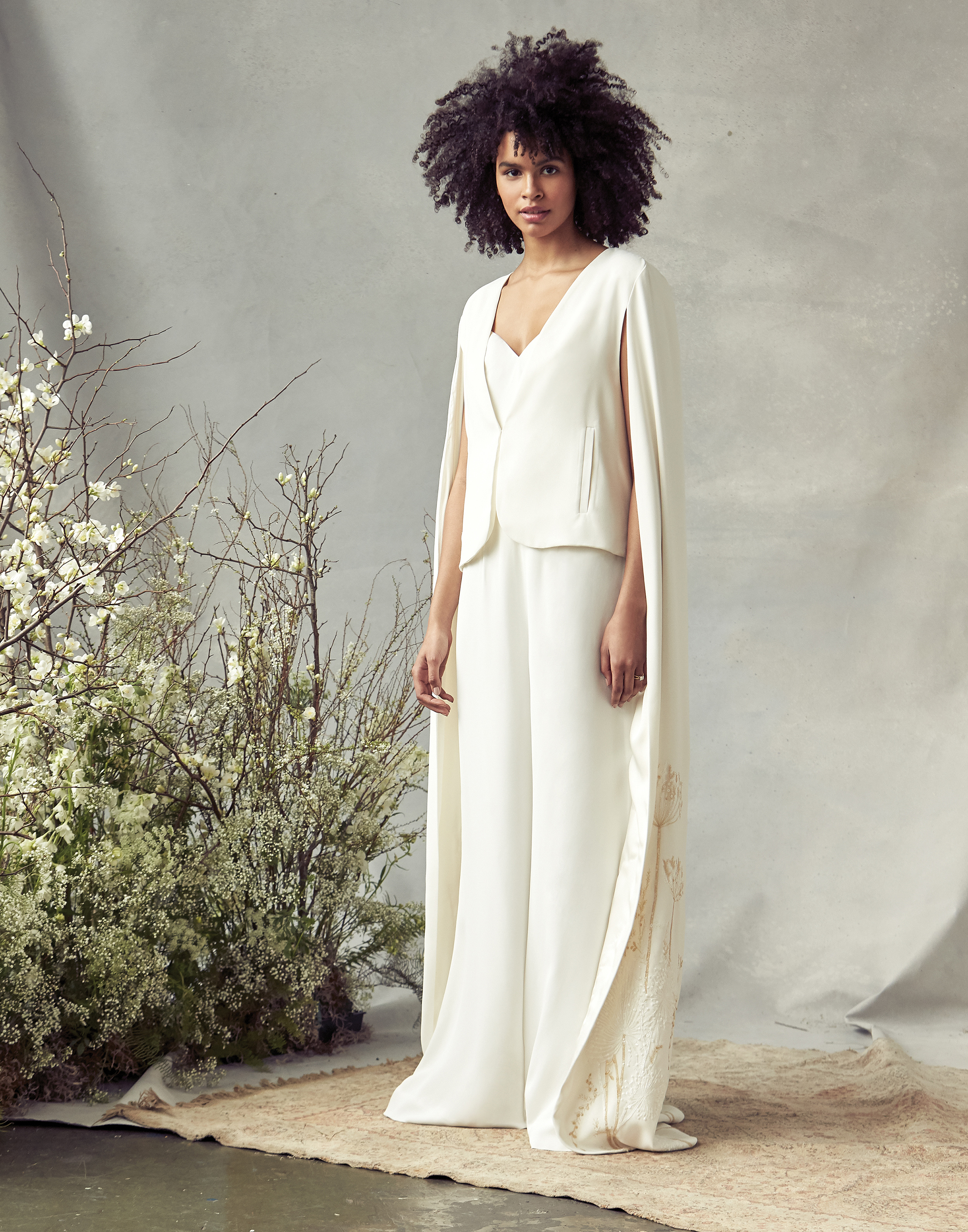 savannah miller v-neck with vest cape wedding dress spring 2020