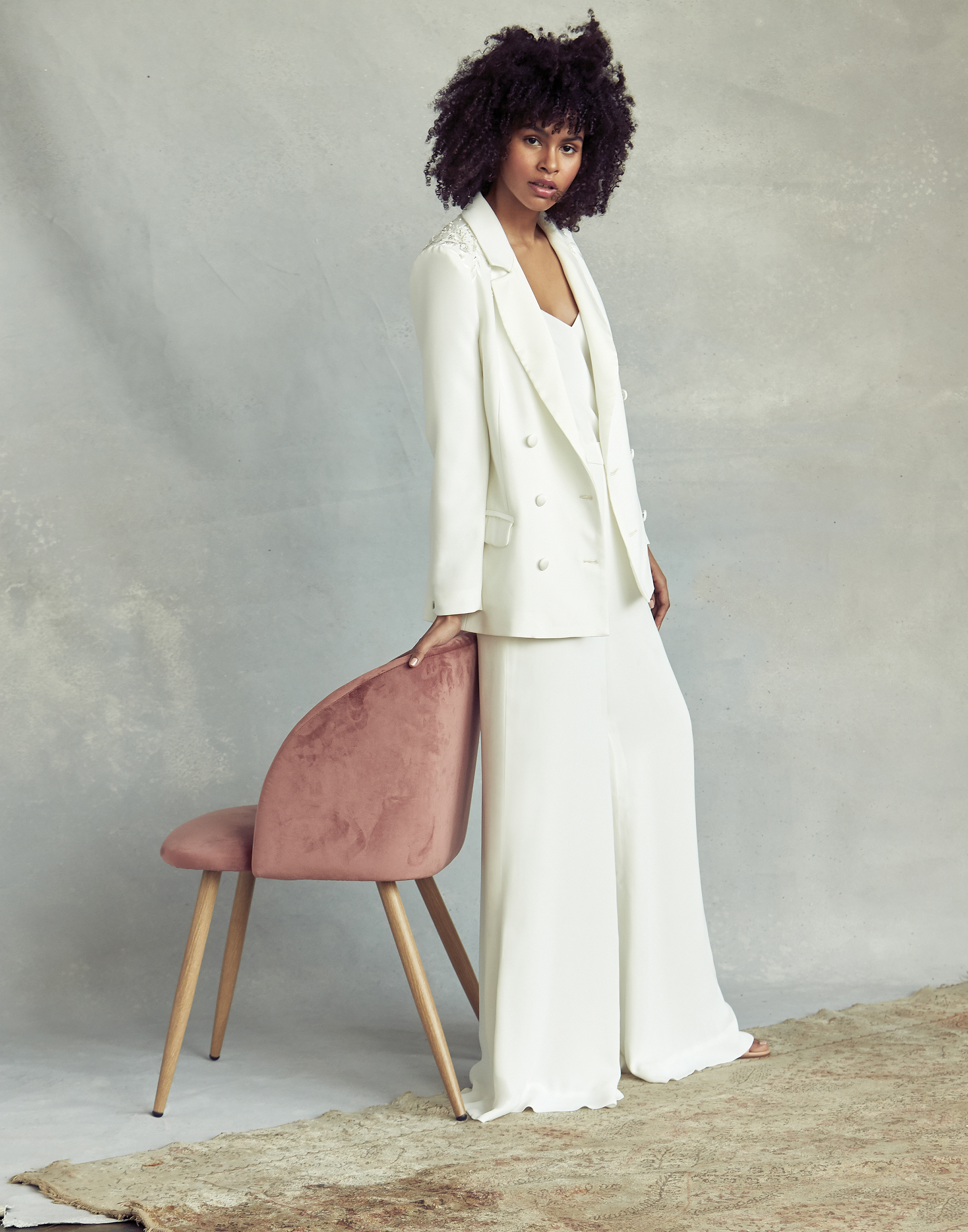 savannah miller pants with jacket wedding dress spring 2020