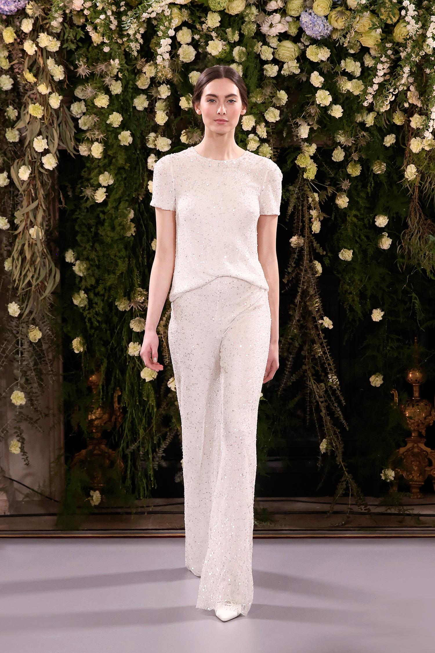 jenny packham wedding dress spring 2019 pants separates with sparkles