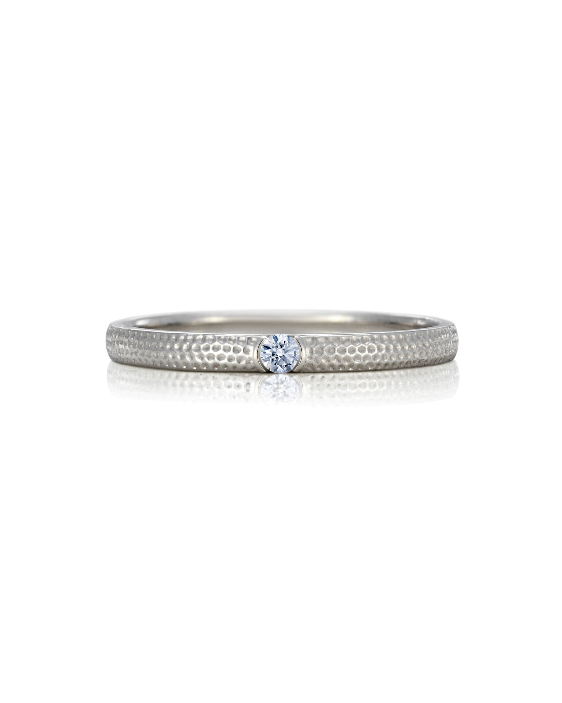 silver wedding band diamond