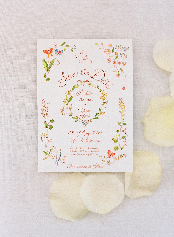 ashlie adam alpert wedding save the date