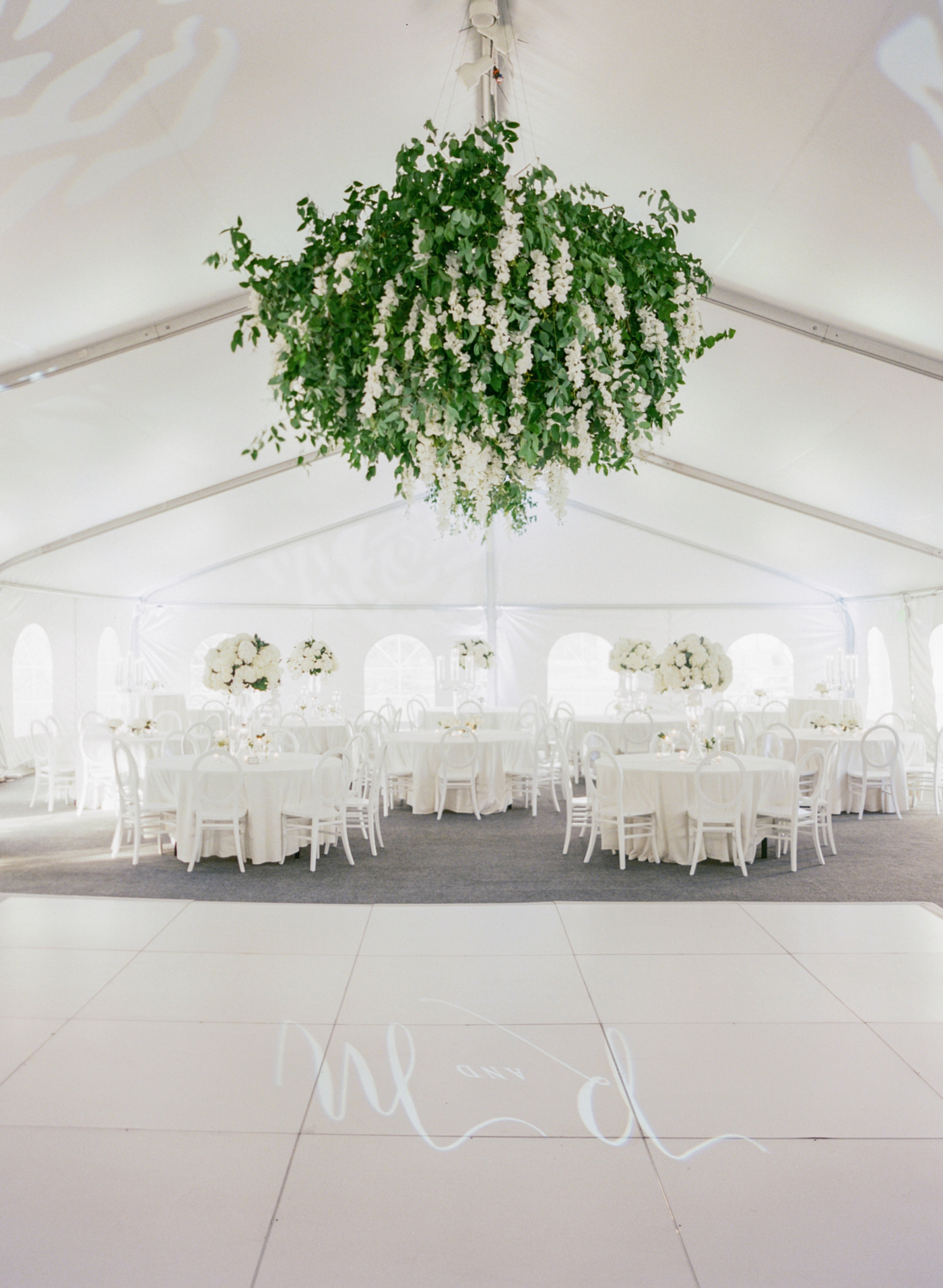 large hanging greenery decor
