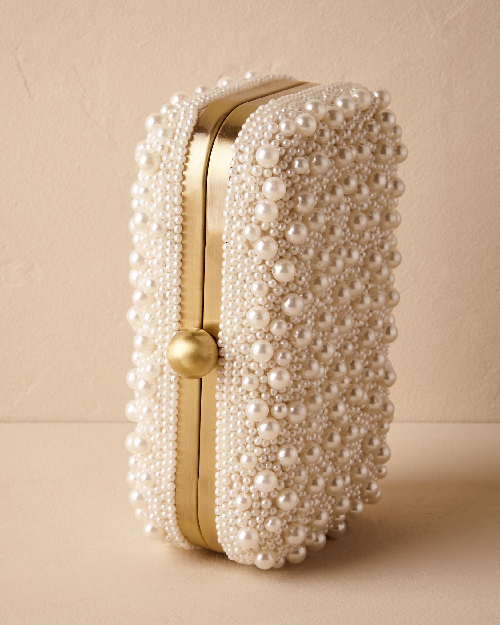 pearl embellished clutch