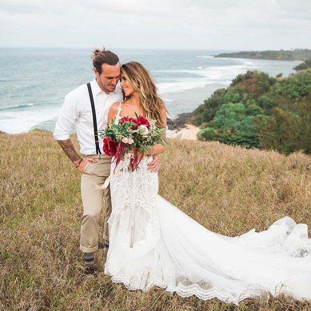 Audrina Patridge and Corey Bohan's wedding photo