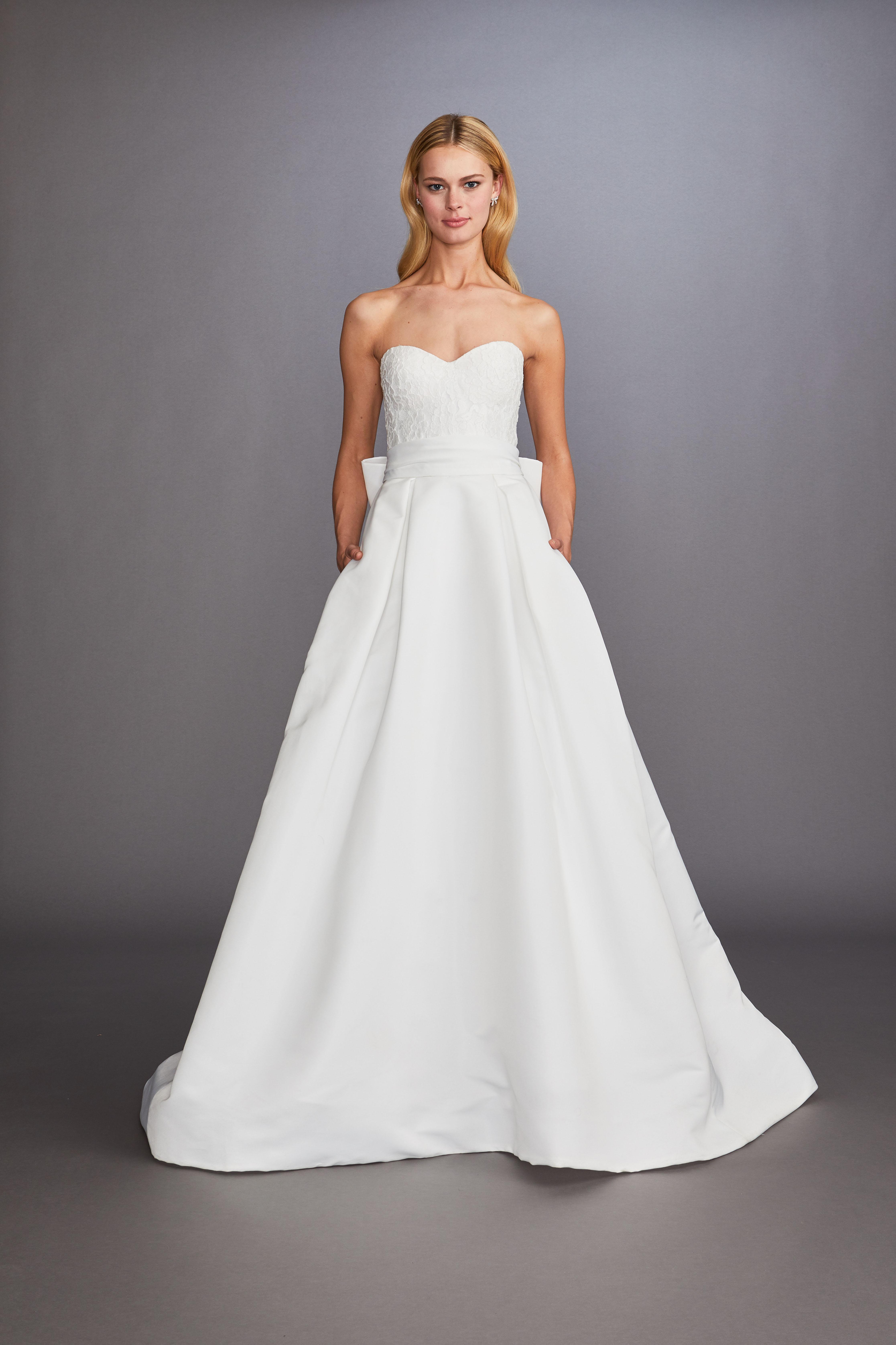 strapless sweetheart neckline a-line wedding dress Allison Webb Spring 2020