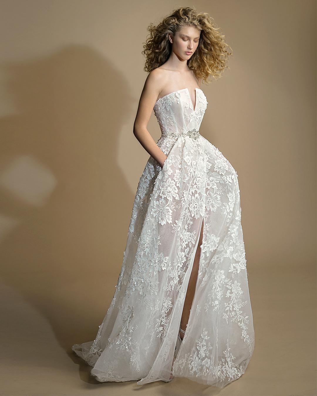 galia lahav gala wedding dress spring 2019 strapless lace ball gown