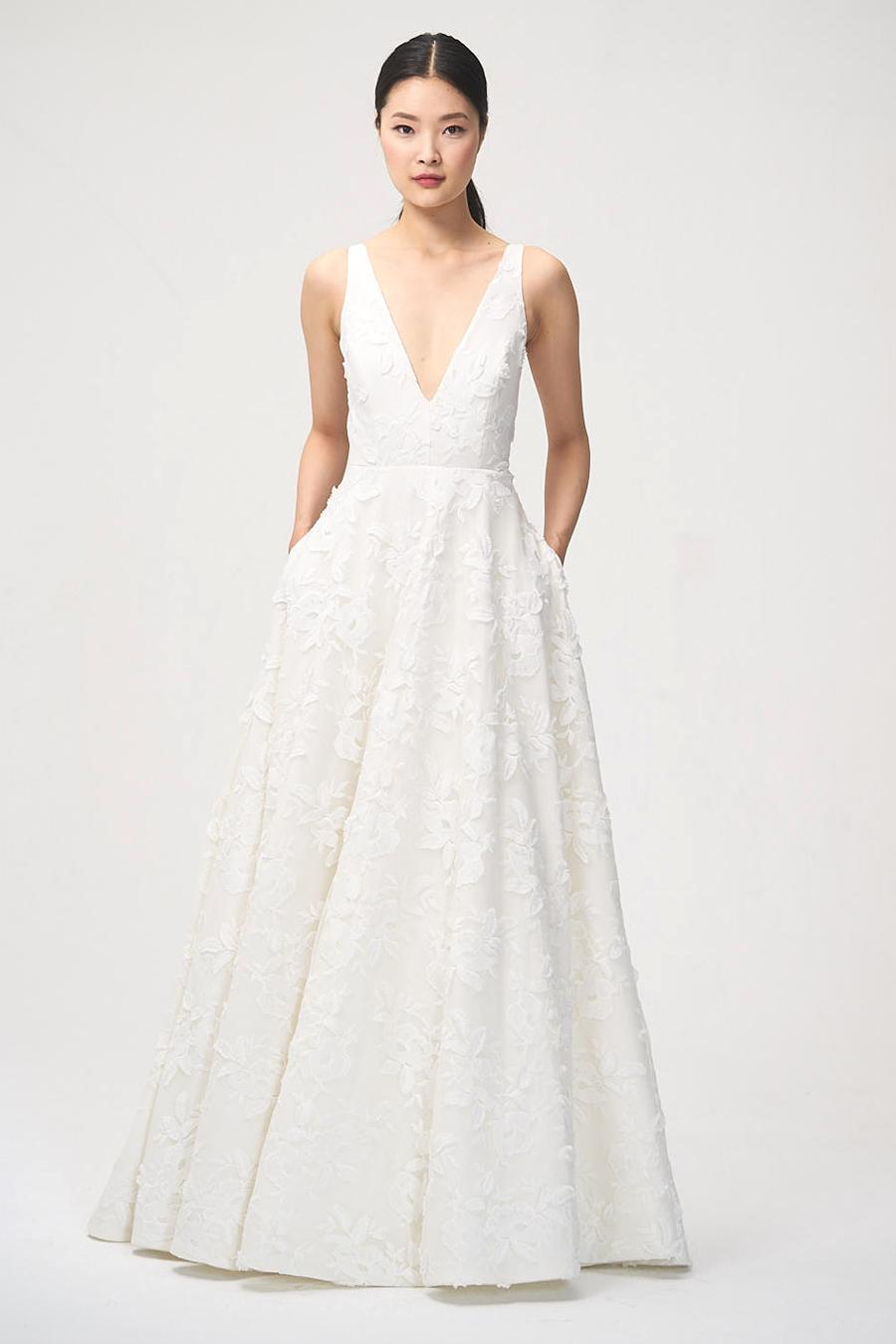 jenny by jenny yoo fall 2018 v-neck a-line wedding dress