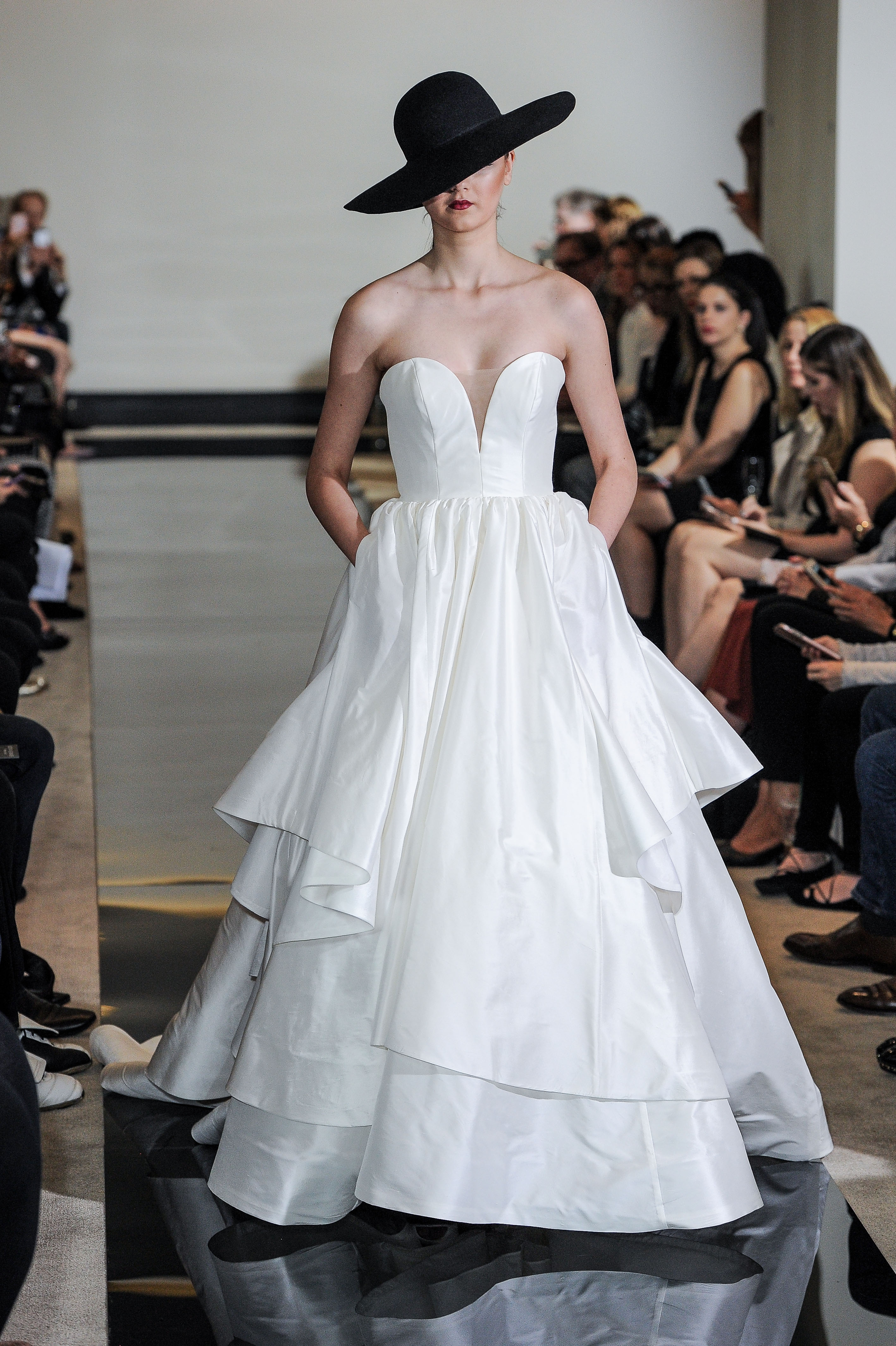 Justin Alexander Strapless Ball Gown Wedding Dress Spring 2018